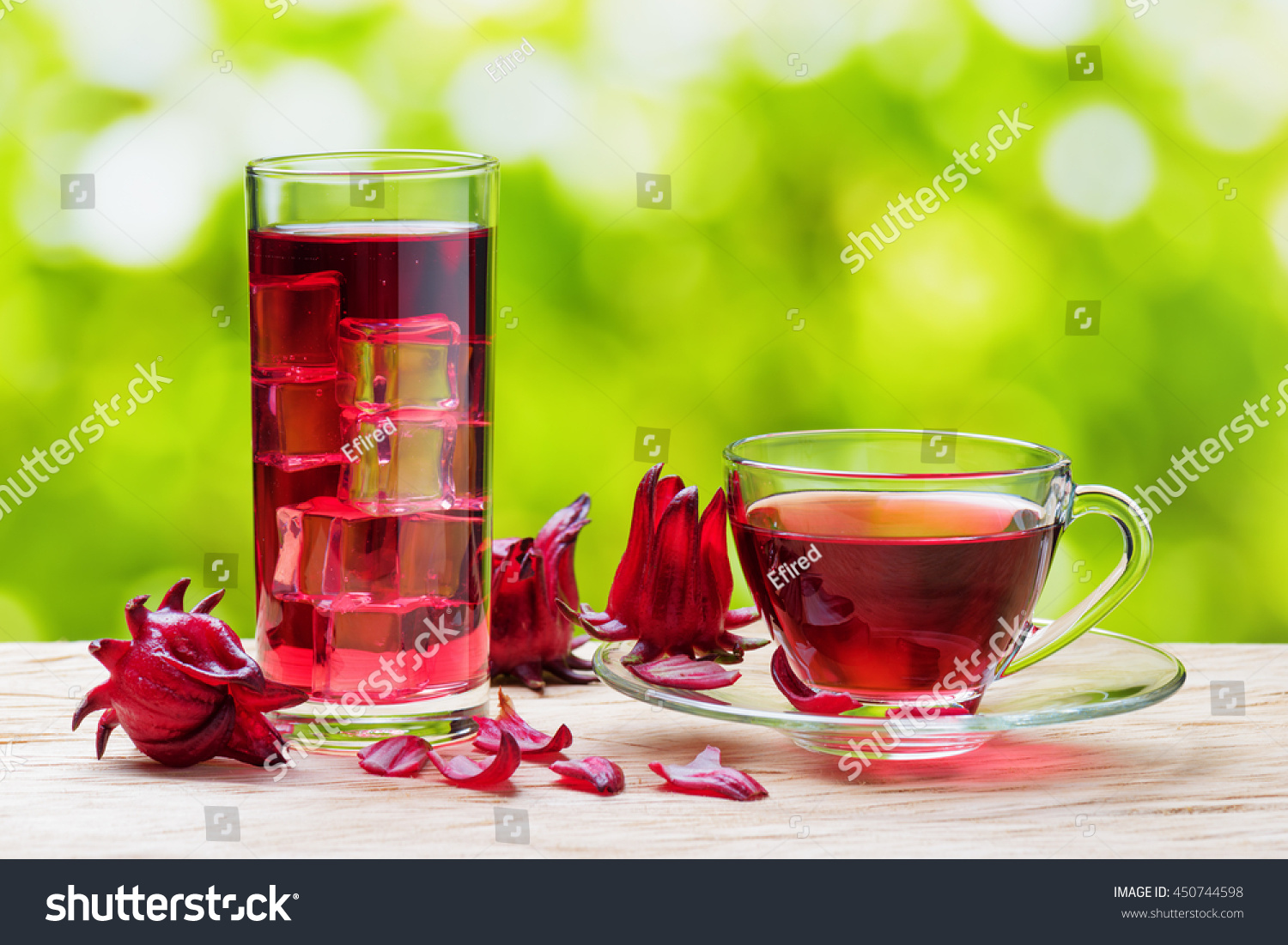 Royalty Free Cup Of Hot Hibiscus Tea Rosella 450744598 Stock