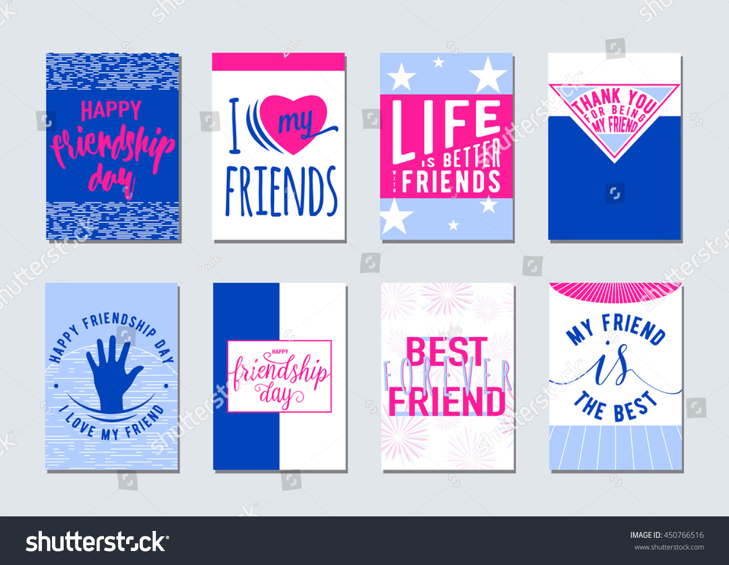 Quote To Friends About Friendship Vector Illustration Friendship Day Typography Background Stock