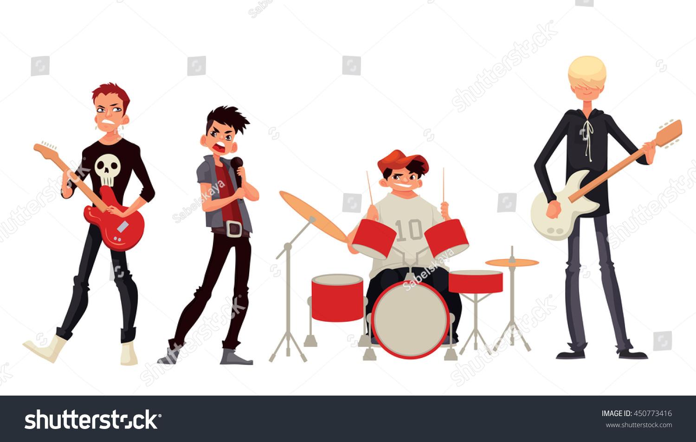 free cartoon rock band clipart - photo #24