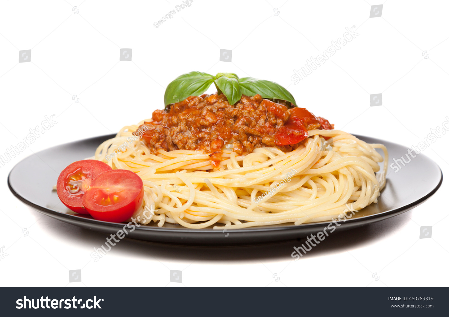 traditional spaghetti bolognese stock photo 450789319 shutterstock. Black Bedroom Furniture Sets. Home Design Ideas