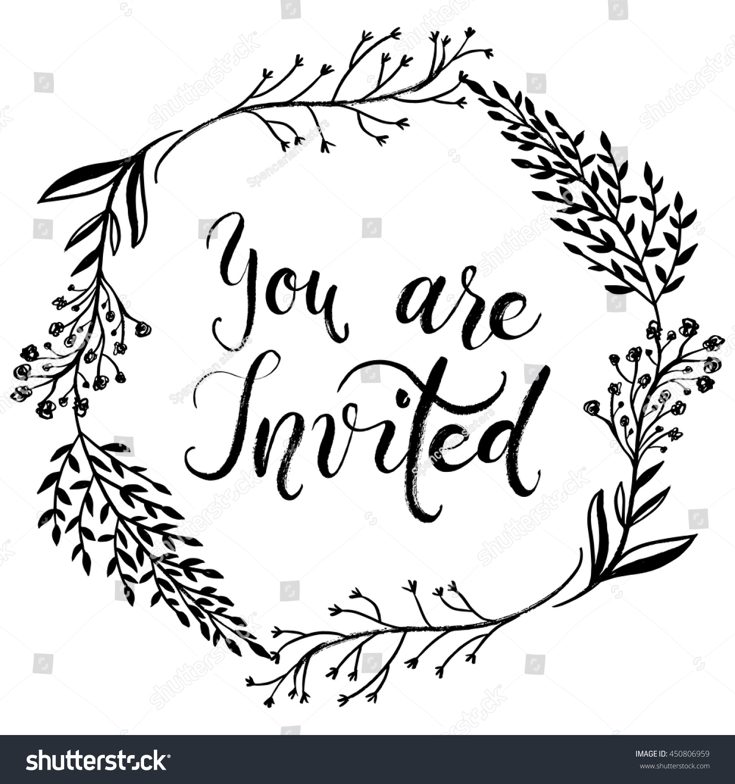 you invited party invitation card vector stock vektorgrafik 450806959 shutterstock. Black Bedroom Furniture Sets. Home Design Ideas