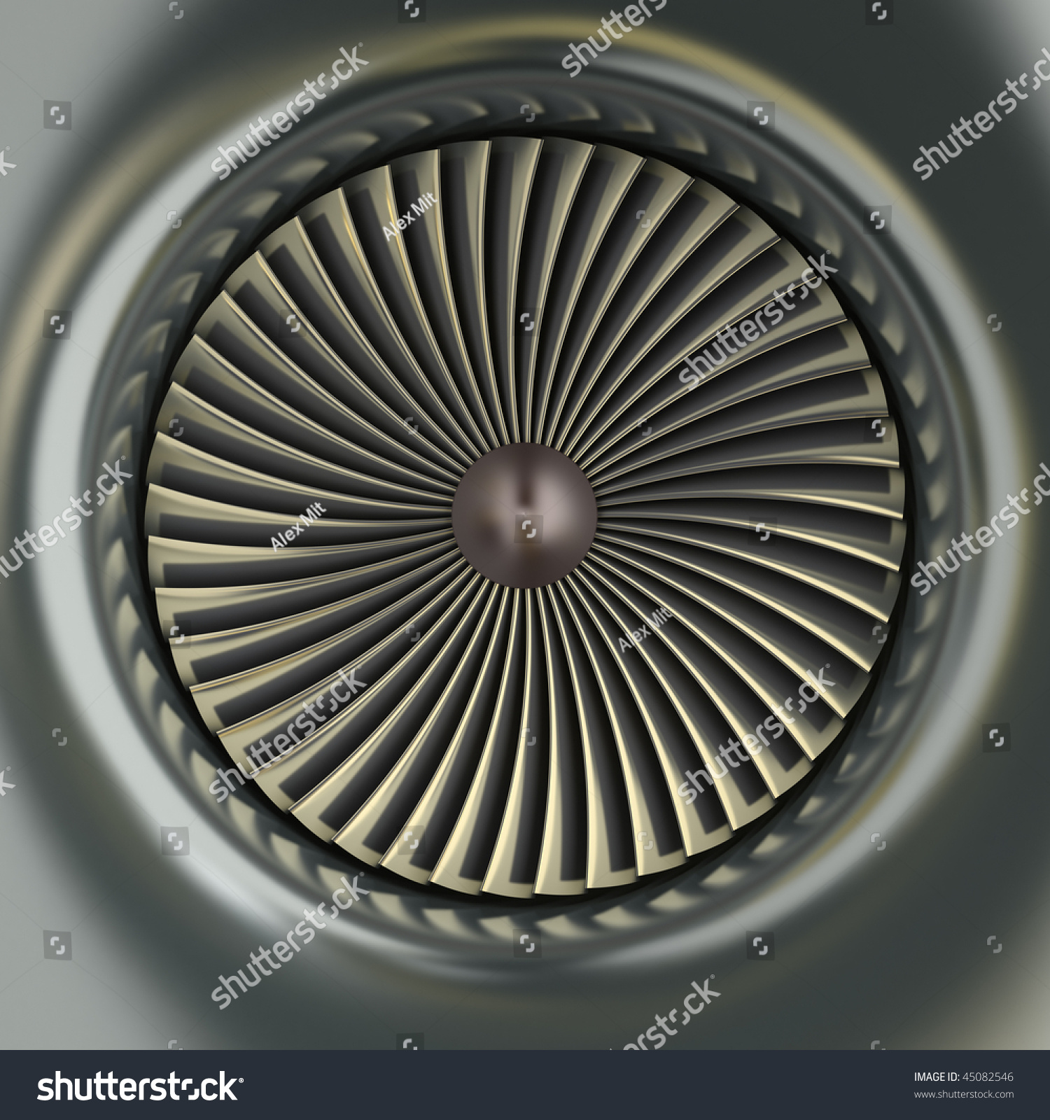 Gas Turbine Jet Engine Stock Illustration Shutterstock