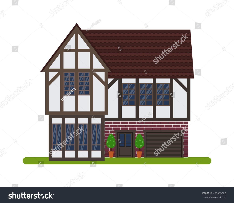 Tudor style english house vector illustration stock vector for English house music