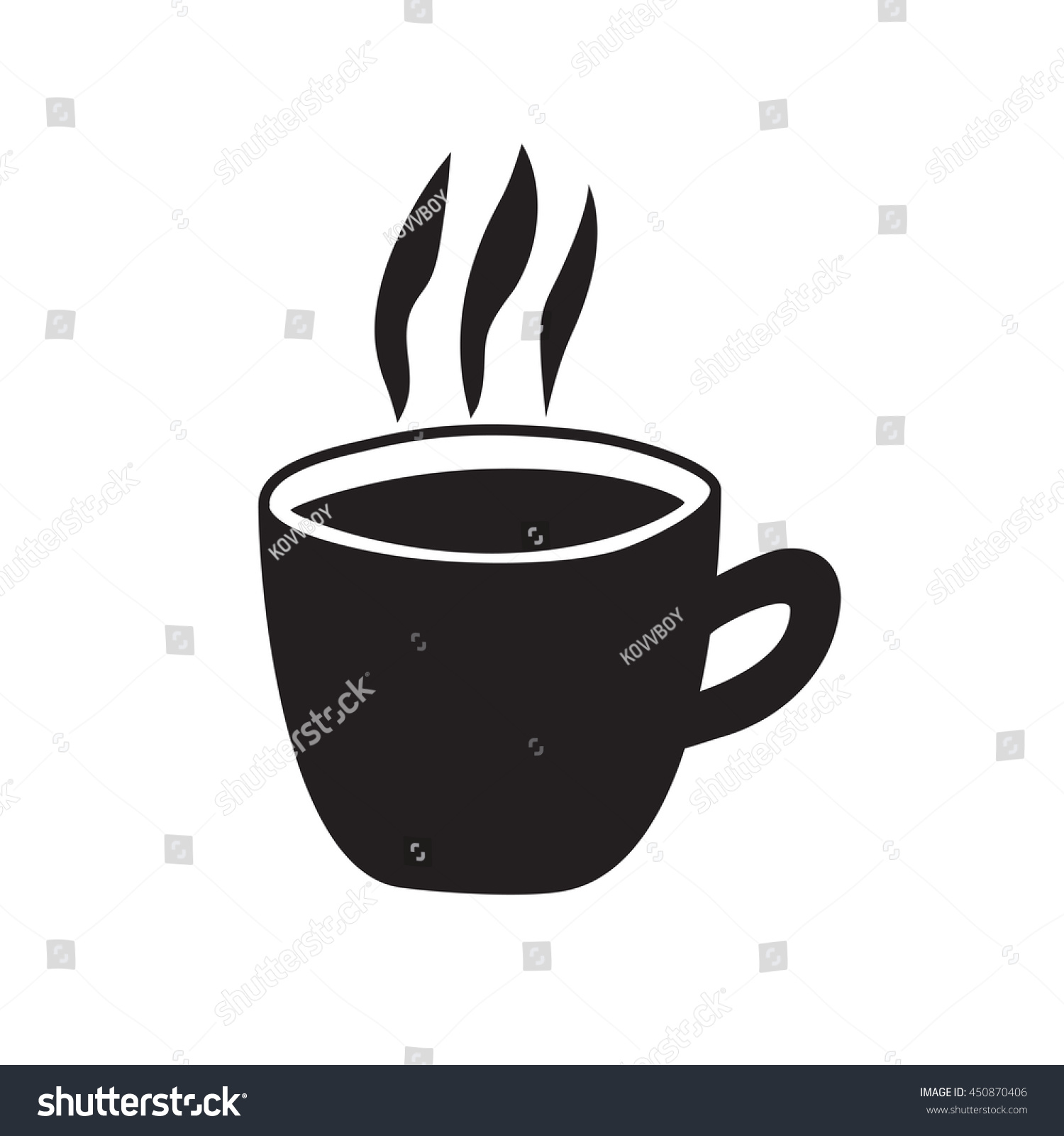 Coffee go vector illustration stock vector 450870406 for Coffee to go