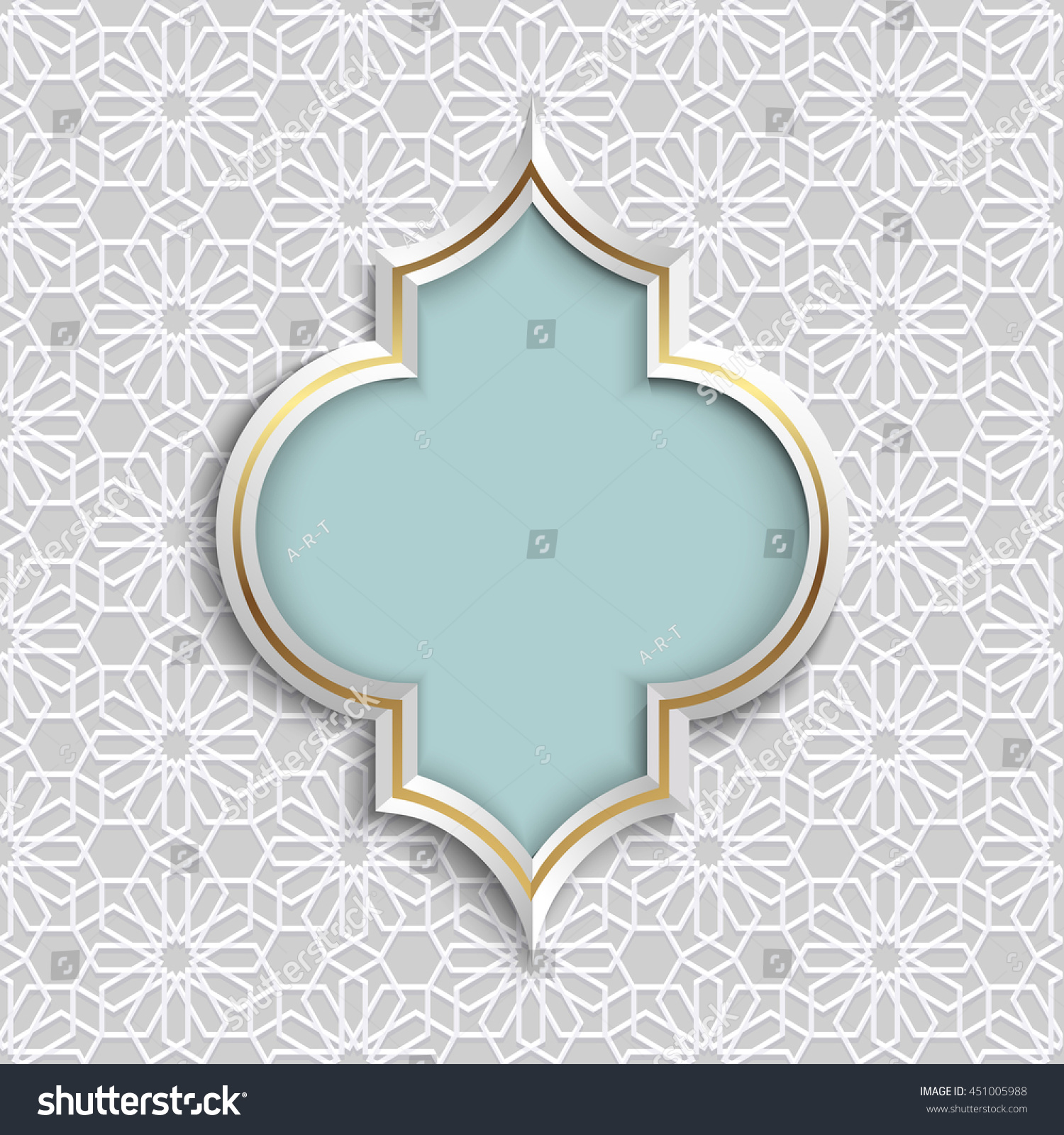 3d Abstract Islamic Design Pattern Mosaic Stock Vector