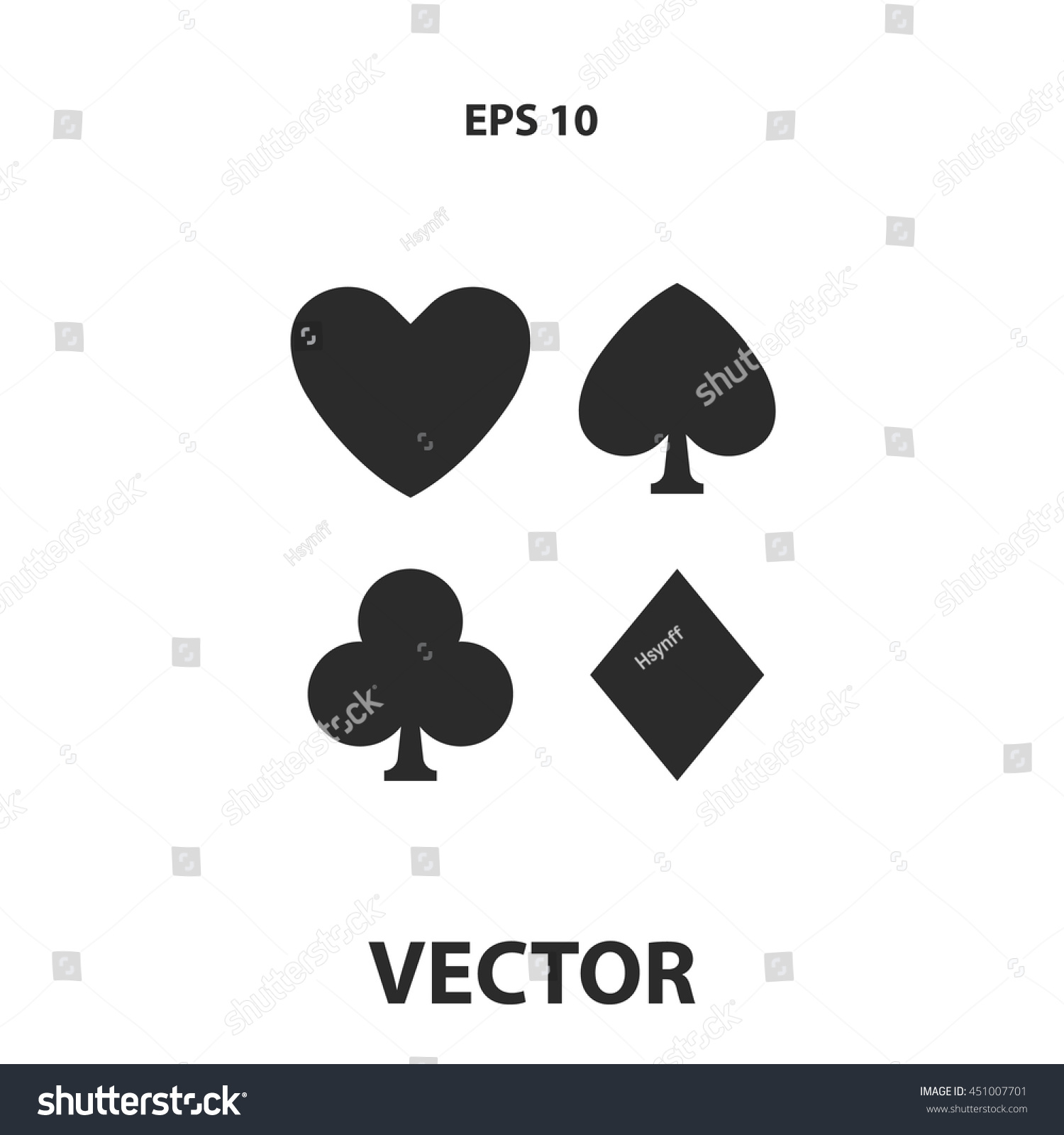 Playing card symbols icon stock vector 451007701 shutterstock playing card symbols icon biocorpaavc
