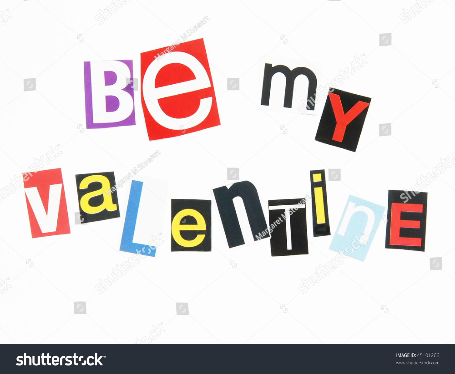 Be my valentine letters cutout magazines stock photo edit now be my valentine in letters cutout from magazines ransom note style spiritdancerdesigns Choice Image