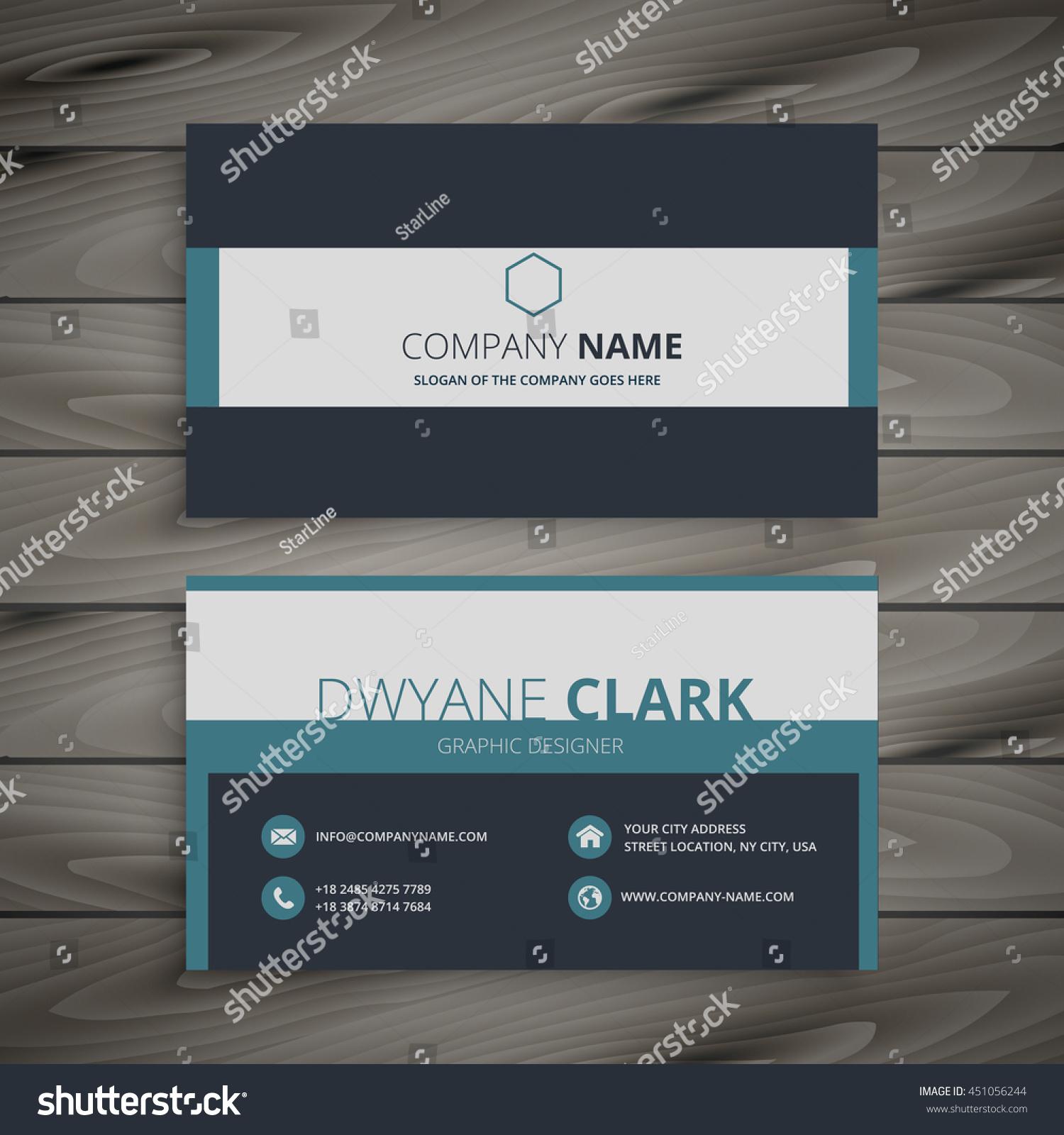 Elegant Business Card Template Stock Vector 451056244 - Shutterstock