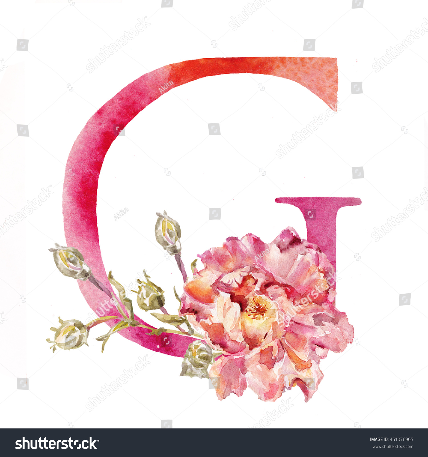 Royalty Free Stock Illustration of Watercolor Alphabet Painted ...