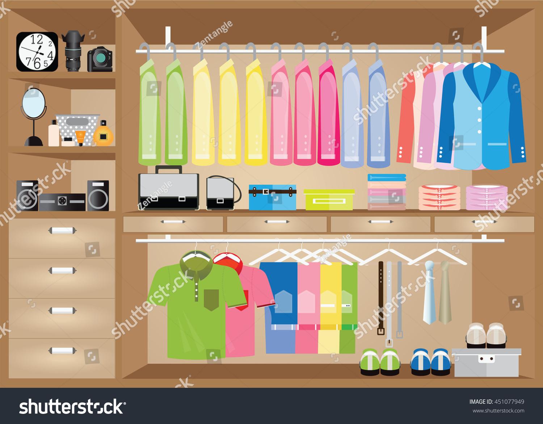 Flat Design Walk In Closet, Interior Design, Clothing Store, Boutique Indoor  Of Menu0027s