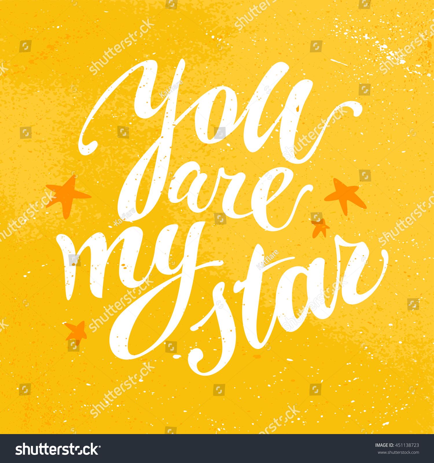 Vector Hand Written Text Message Isolated Love Card Congratulation