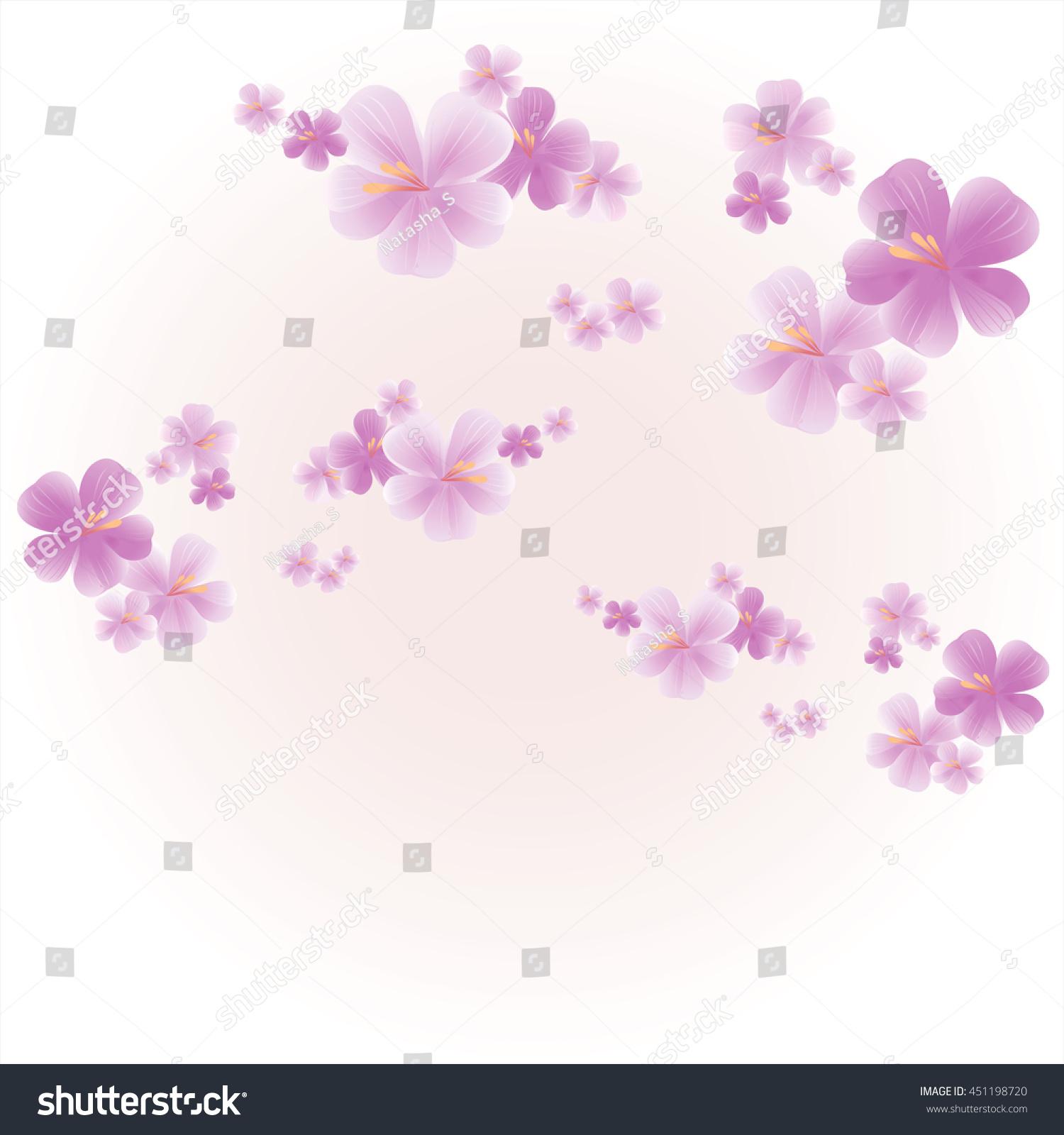 Flowers Background Flowers Design Apple Tree Stock Vector Royalty