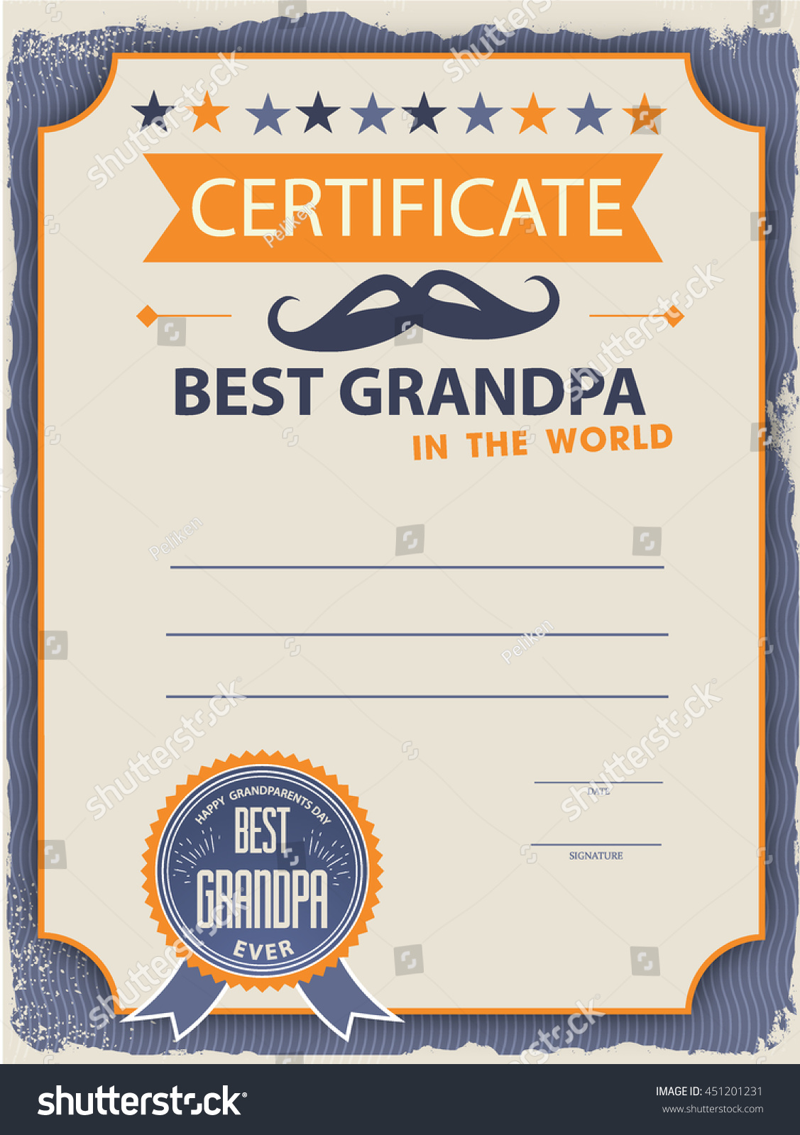 template certificate diploma congratulations happy grandparents