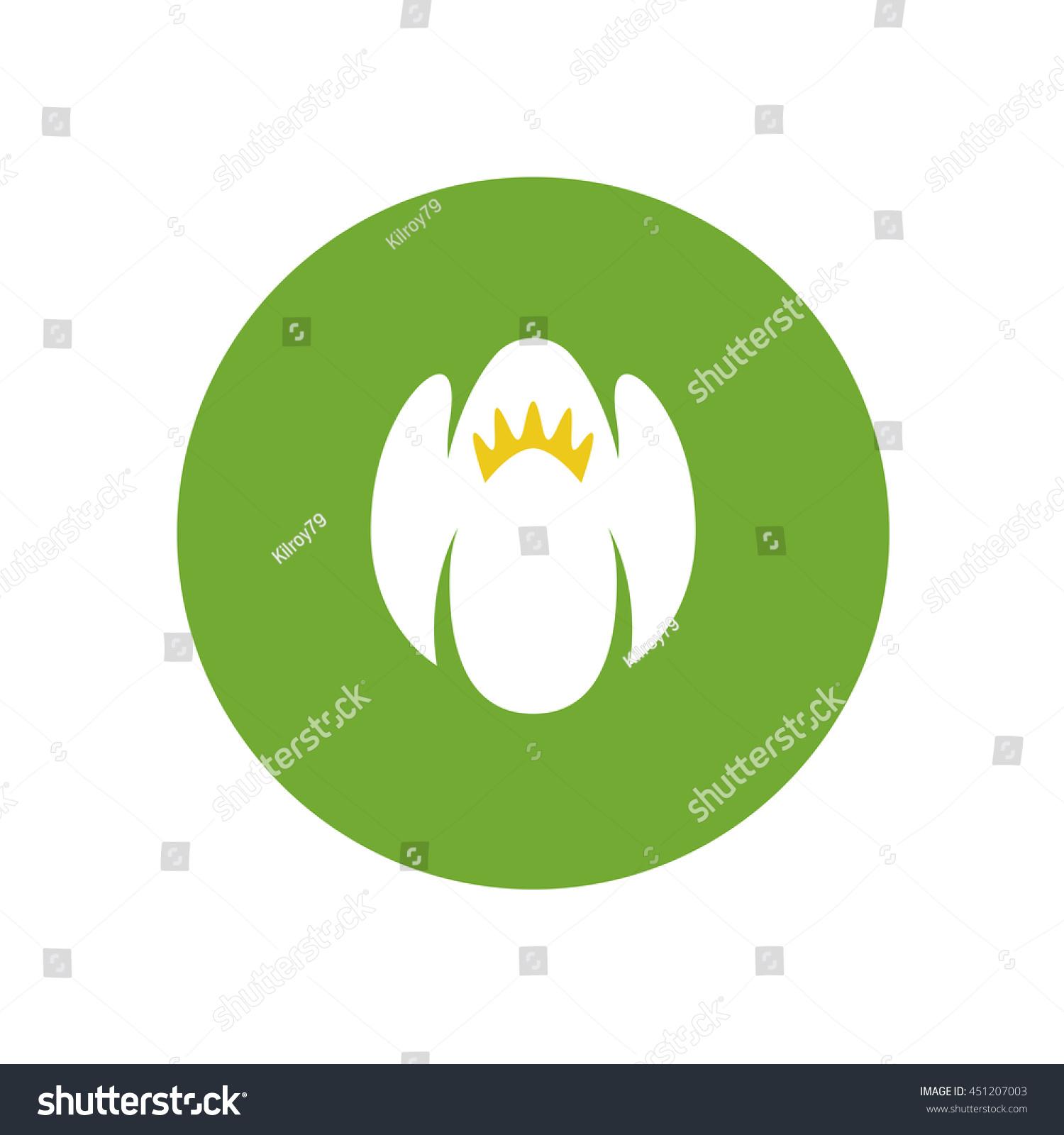 Jasmine Flower Color Logo White Green Stock Illustration 451207003 ...