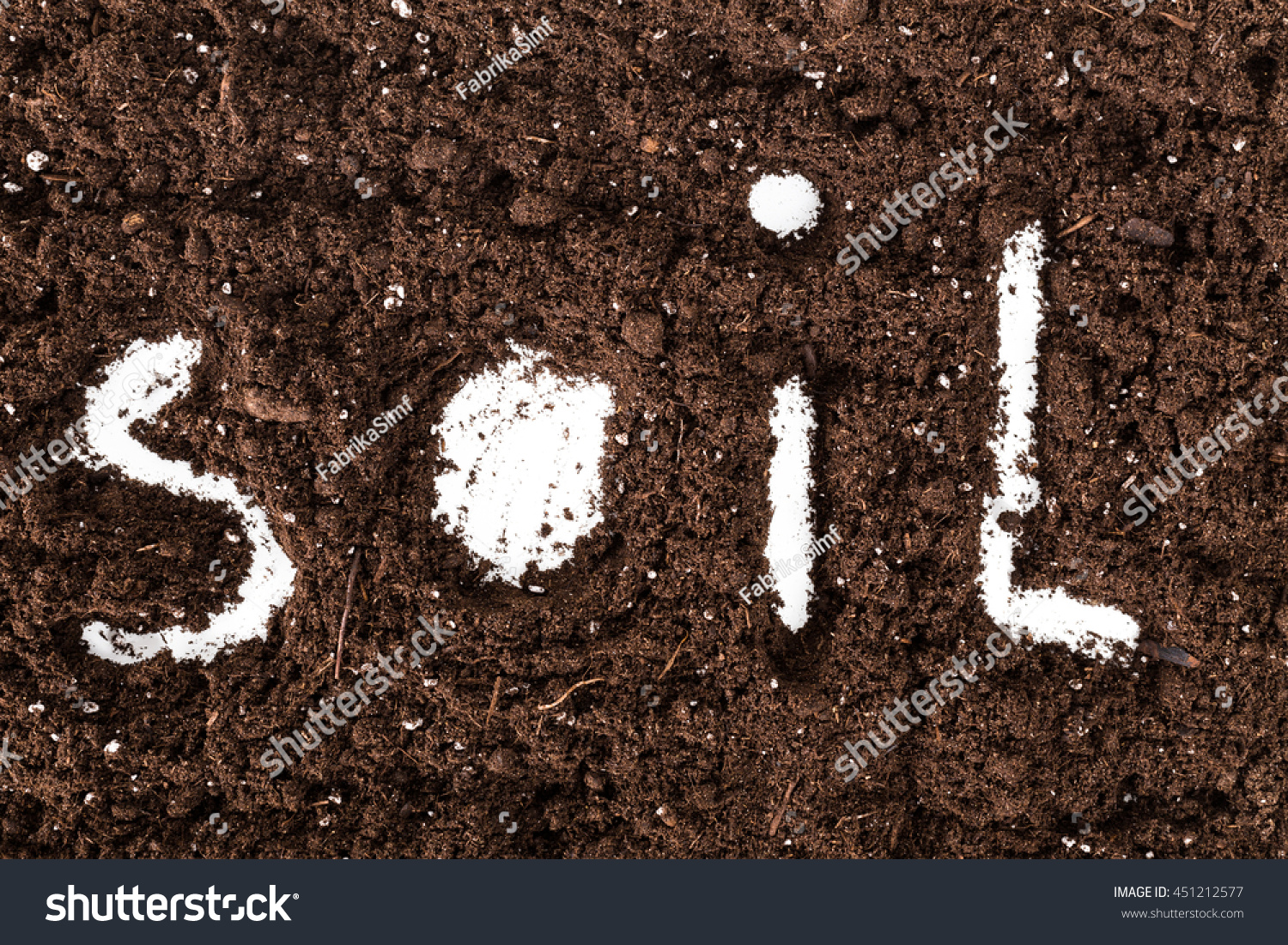 Word soil made letters on ground stock photo 451212577 for Things made up of soil
