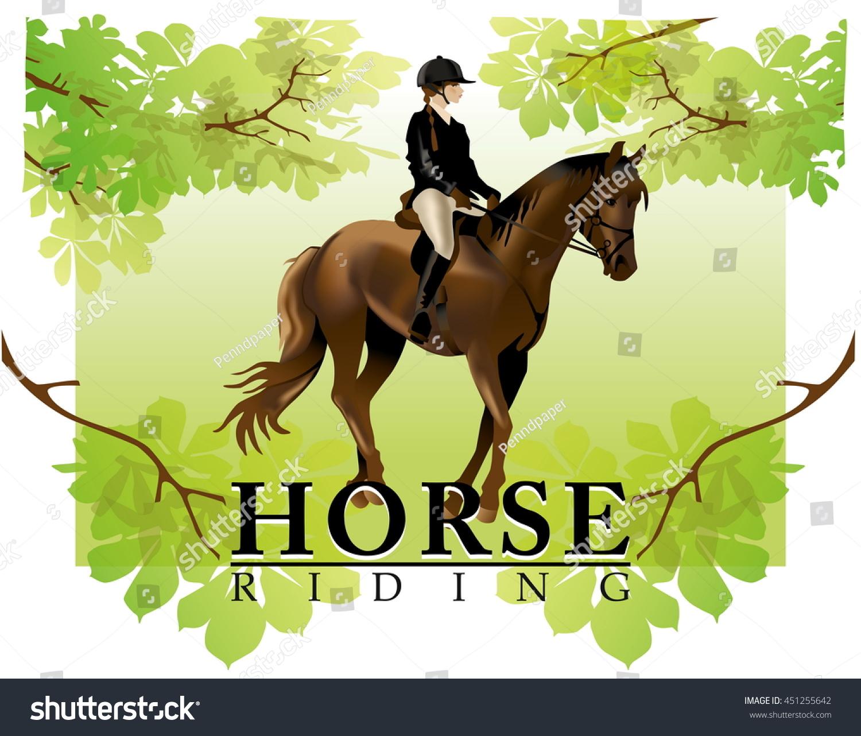 Vector De Stock Libre De Regalias Sobre Horse Rider Realistic Vector Illustration Isolated451255642