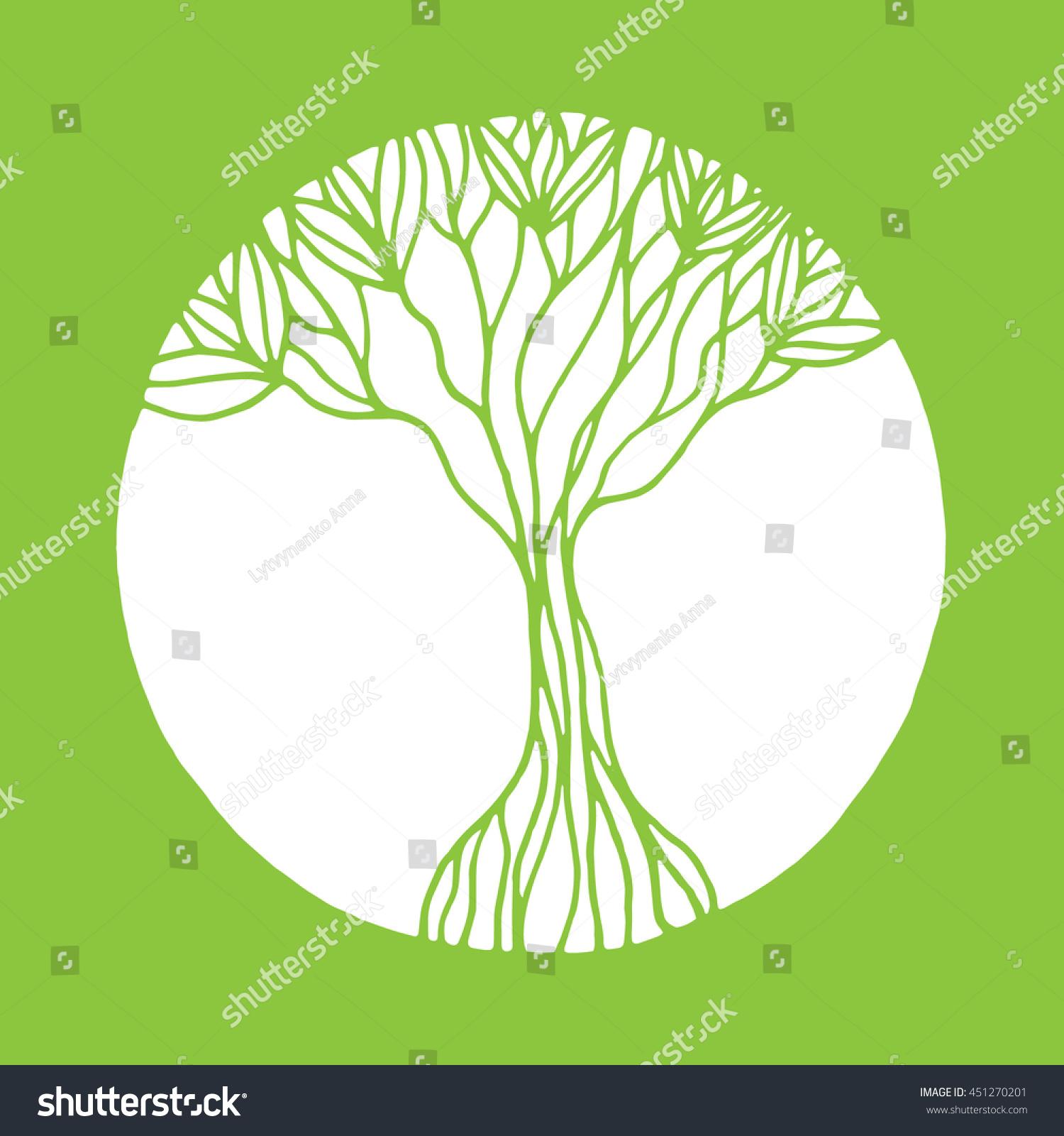 Vector Ornament Decorative Zentangle Tree Life Stock Vector ...
