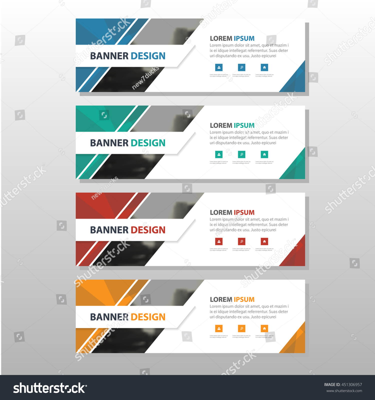 colorful triangle abstract corporate business banner stock vector