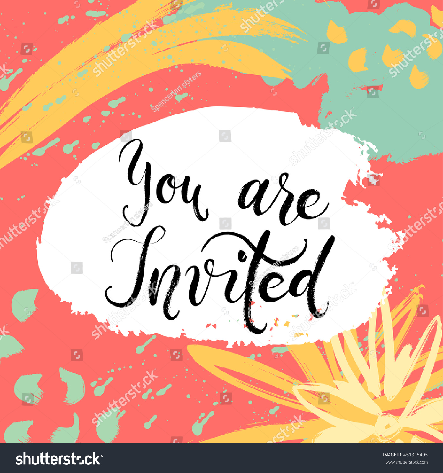 She Said Yes Invitation Card Vector Stock Vector (Royalty Free ...