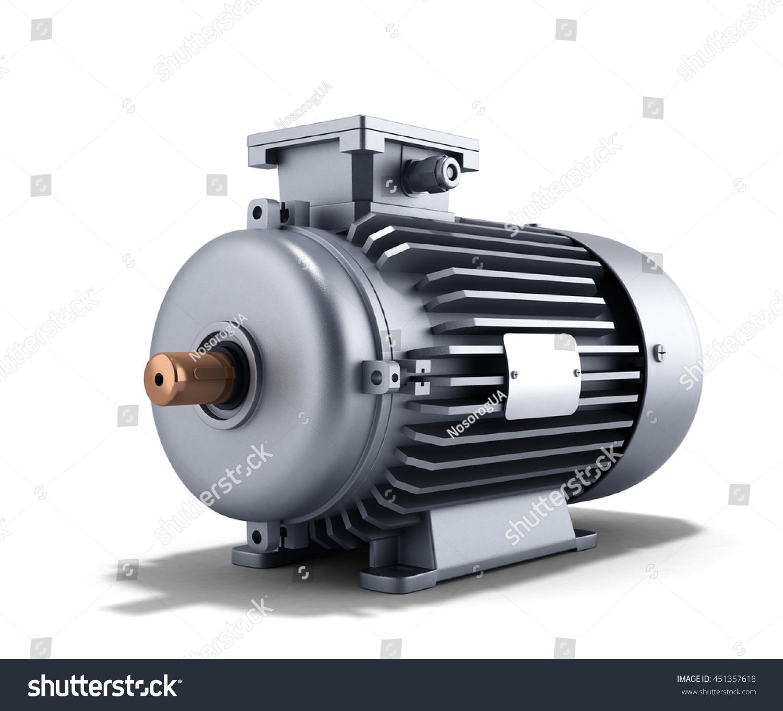 Electric Motor Generator 3d Illustration Stock Illustration