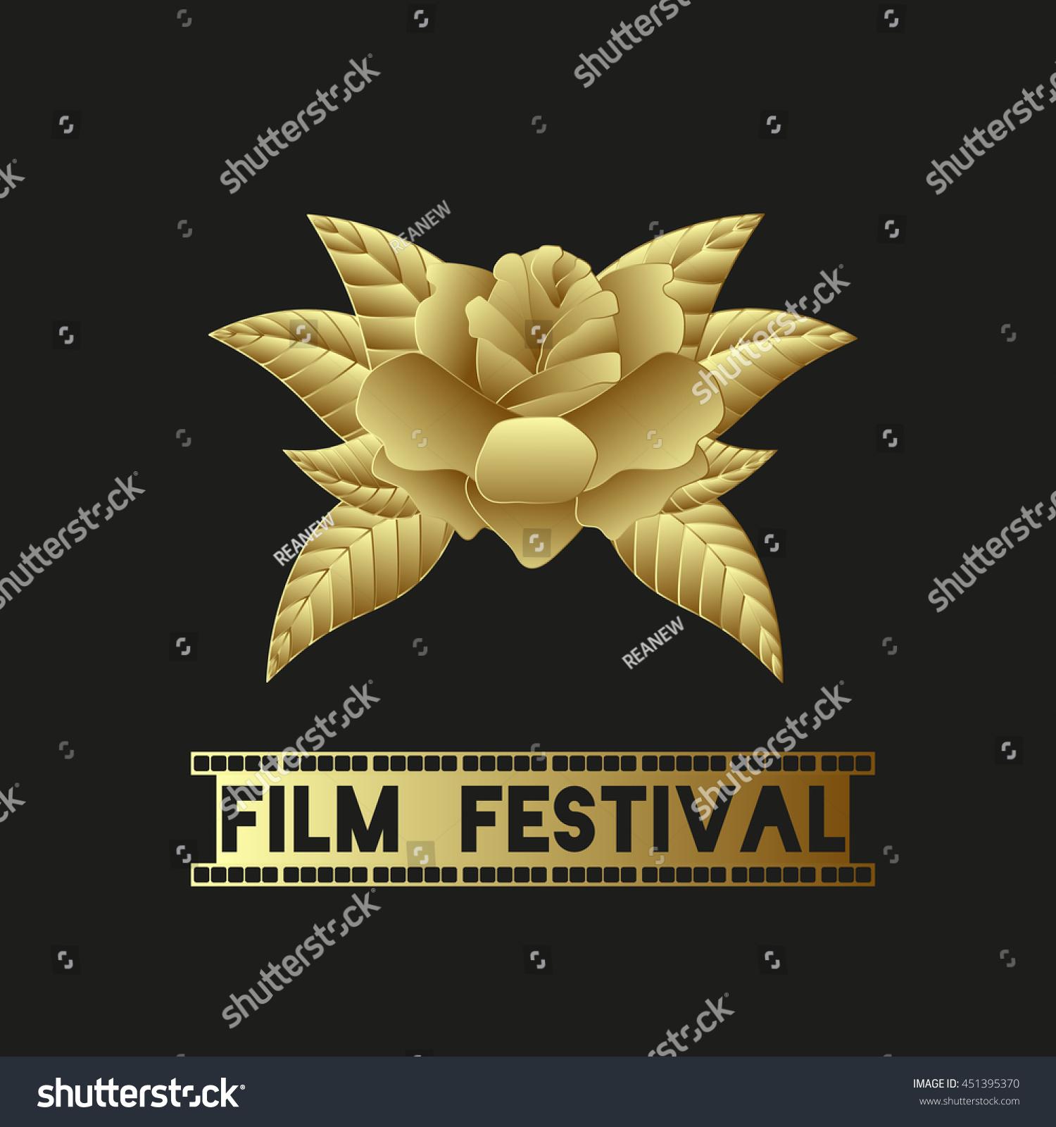 Golden Rose Wonderful Golden Flower Symbol Stock Vector 451395370