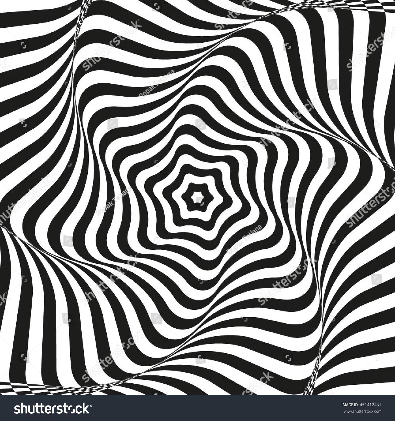 Optical Illusion Art Background Optical Illusion Stock Vector