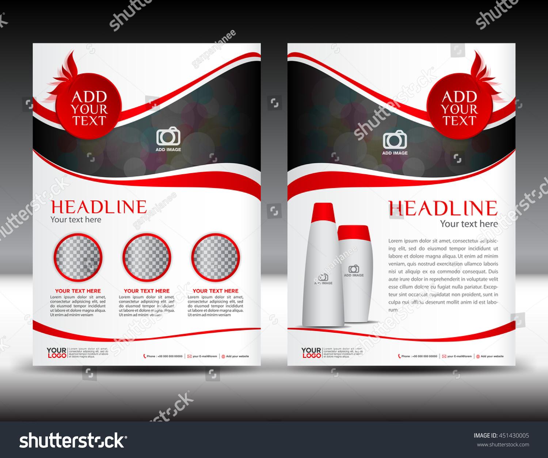 Red Business Brochure Flyer Template Design Vectores En Stock ...
