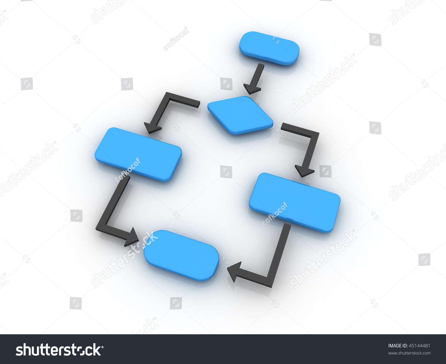 Empty flow chart diagram which usually stock illustration 45144481 an empty flow chart diagram which is usually used in computer programing nvjuhfo Gallery