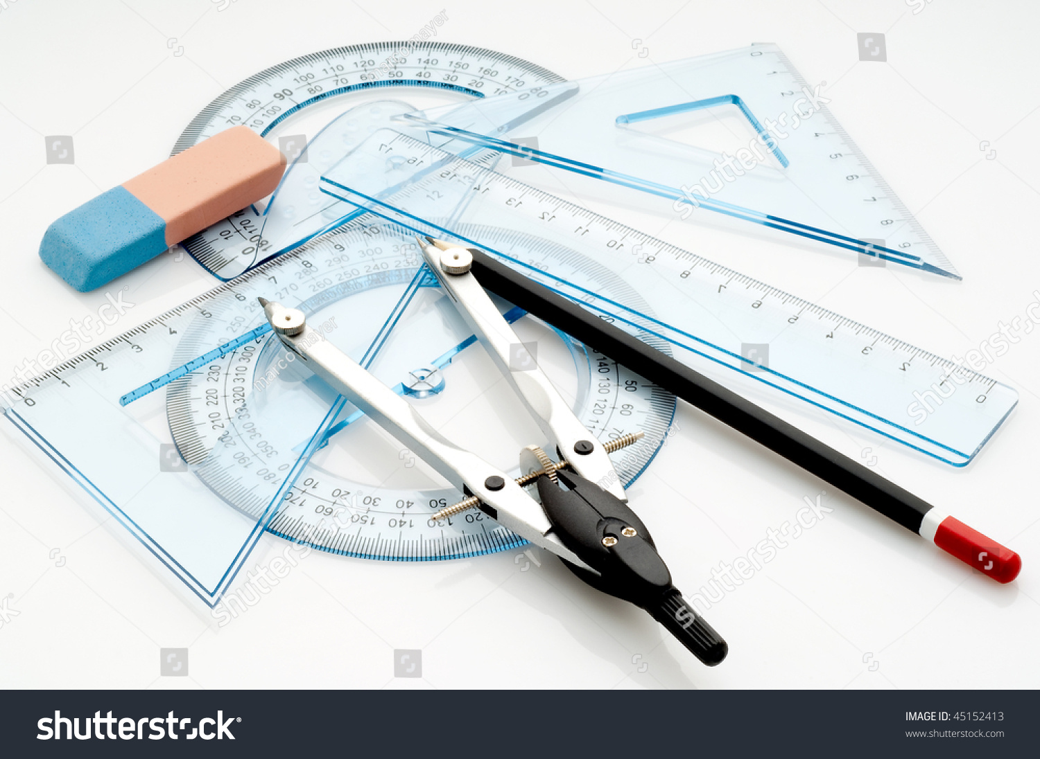 technical drawing instruments stock photo 45152413