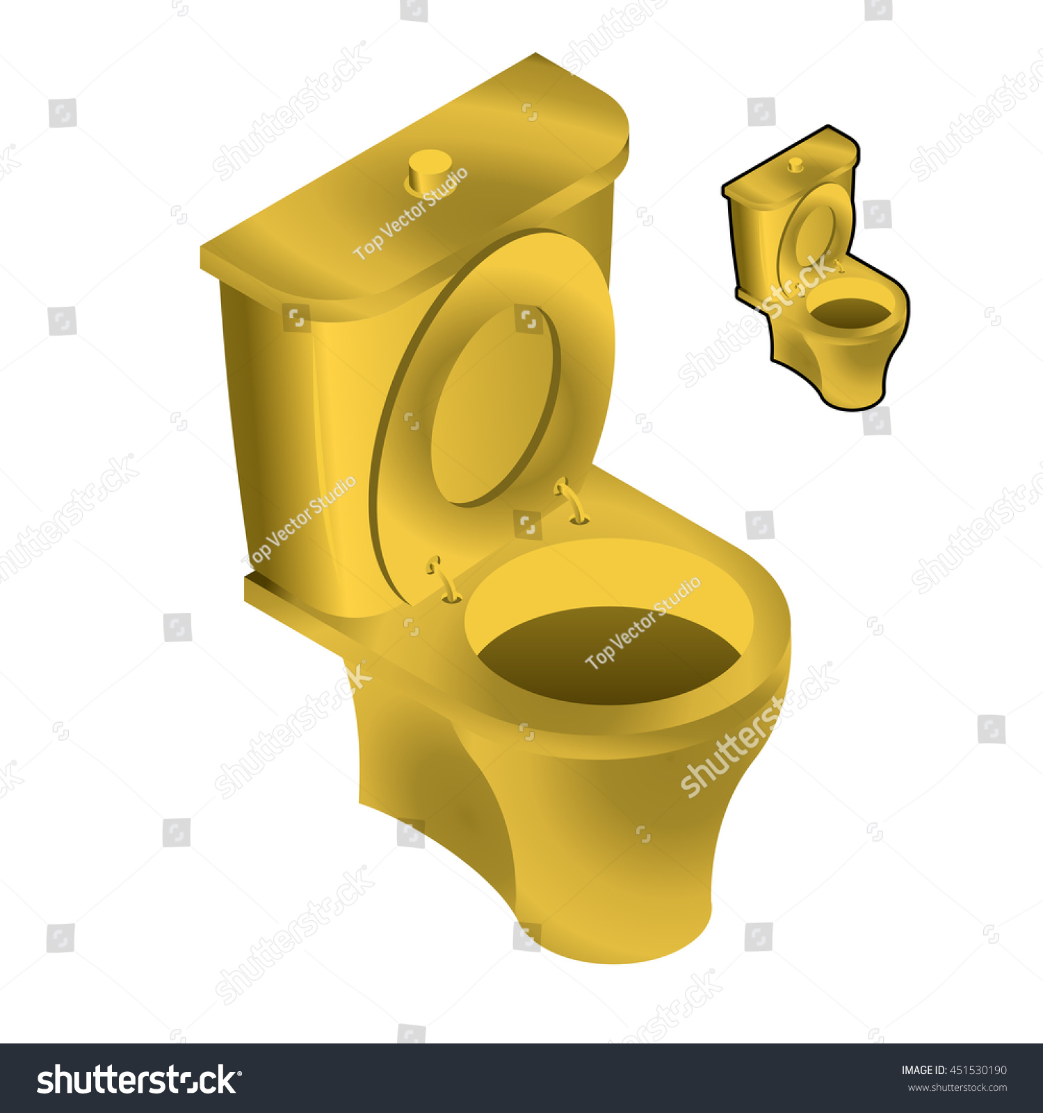 toilet made of gold. Gold Toilet Bowl Isometric Illustration On White Background Sink  made of gold Toilets And Other Dumb Things People Have Plated In NY Your