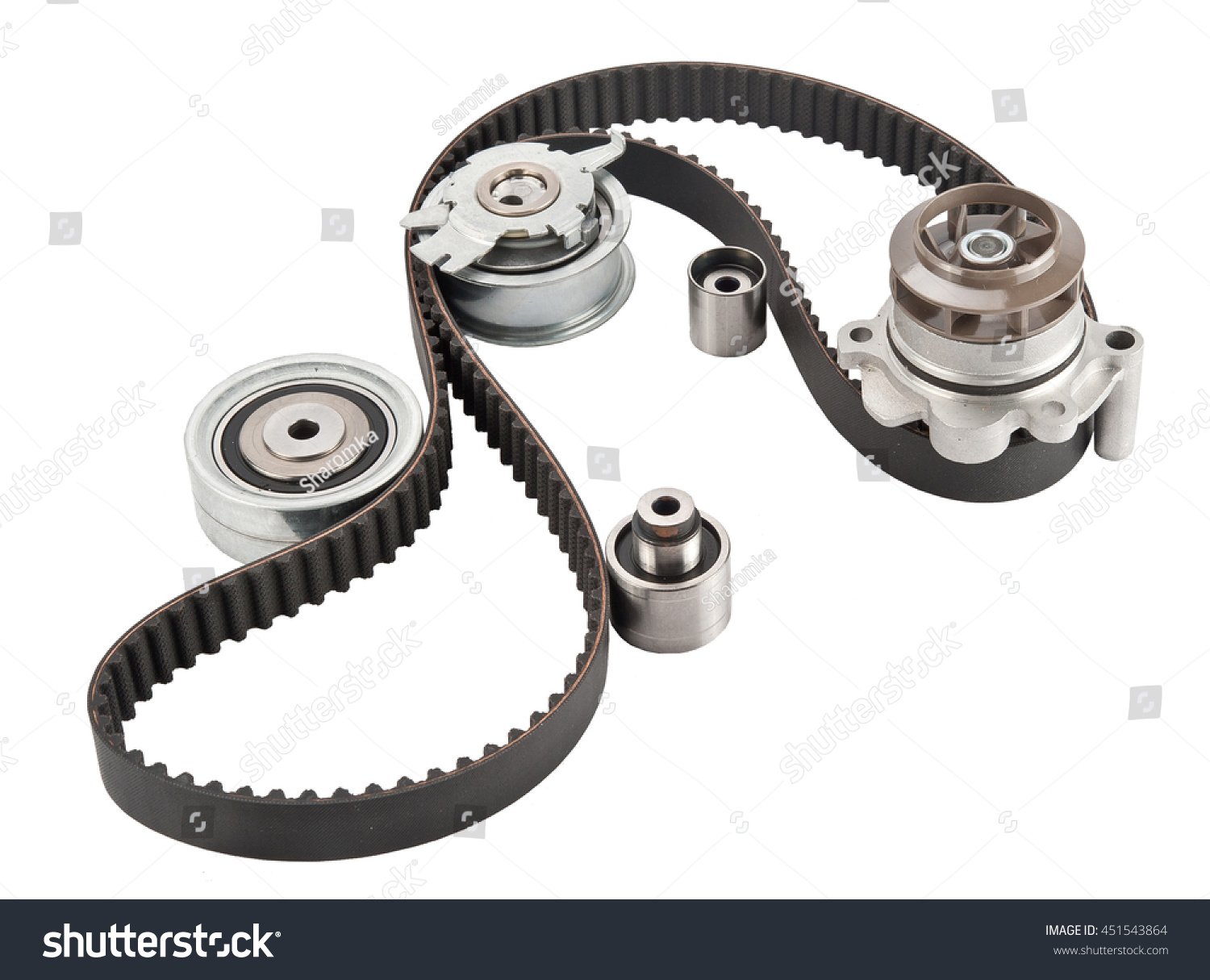 Multiple Pulley Tension Problems : Repair kit timing belt rollers tensioner stock photo shutterstock