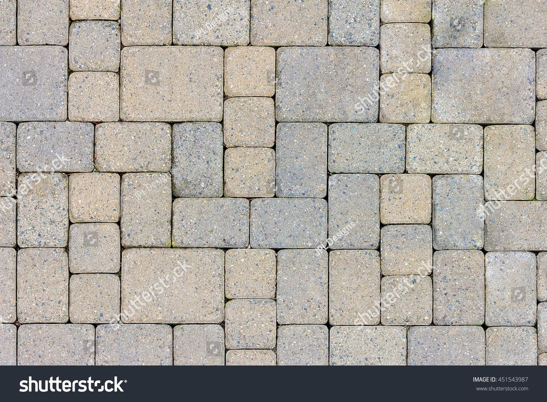 garden patio backyard stone brick pavers stock photo 451543987
