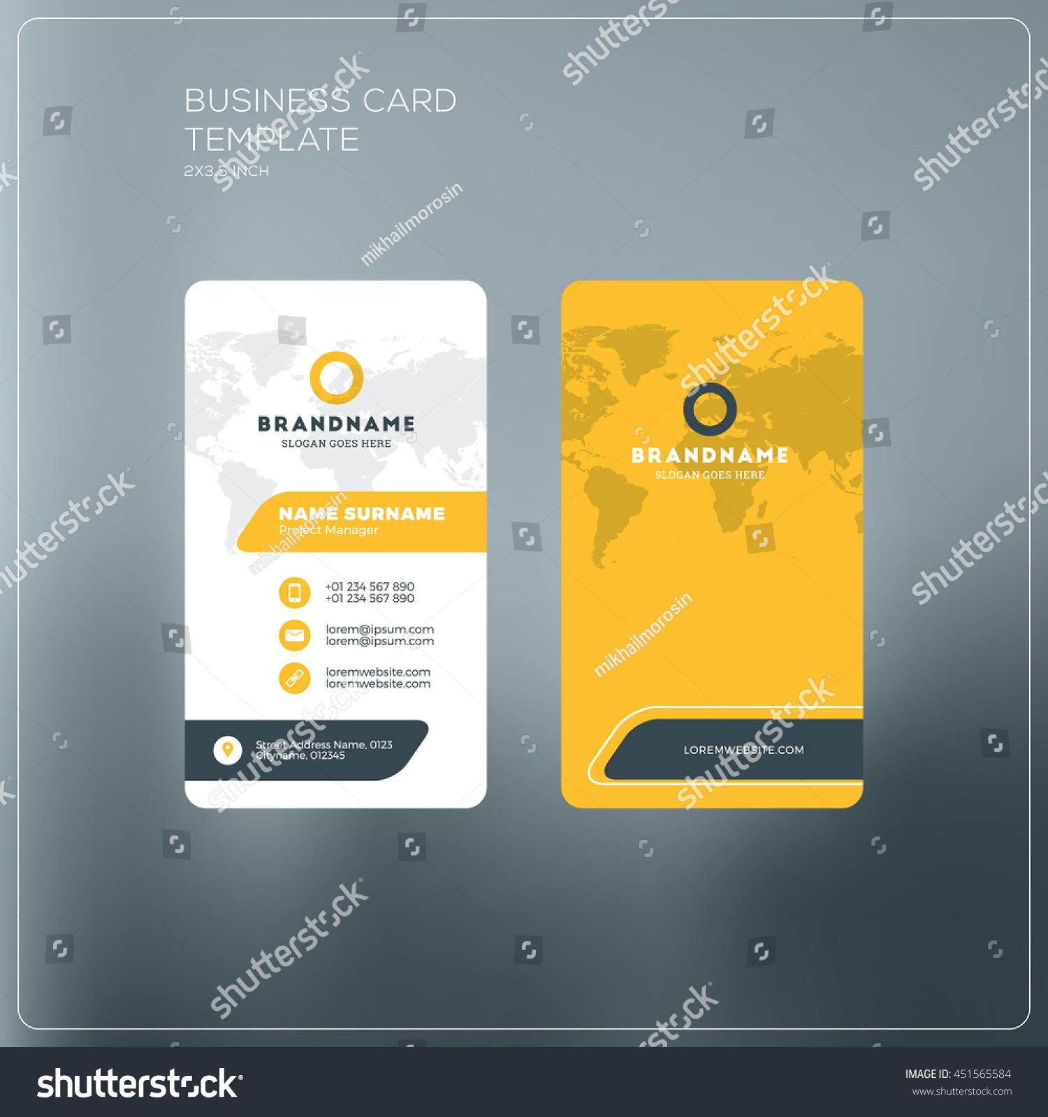 Business Card Print Template Company Logo Stock Vector 451565584 ...