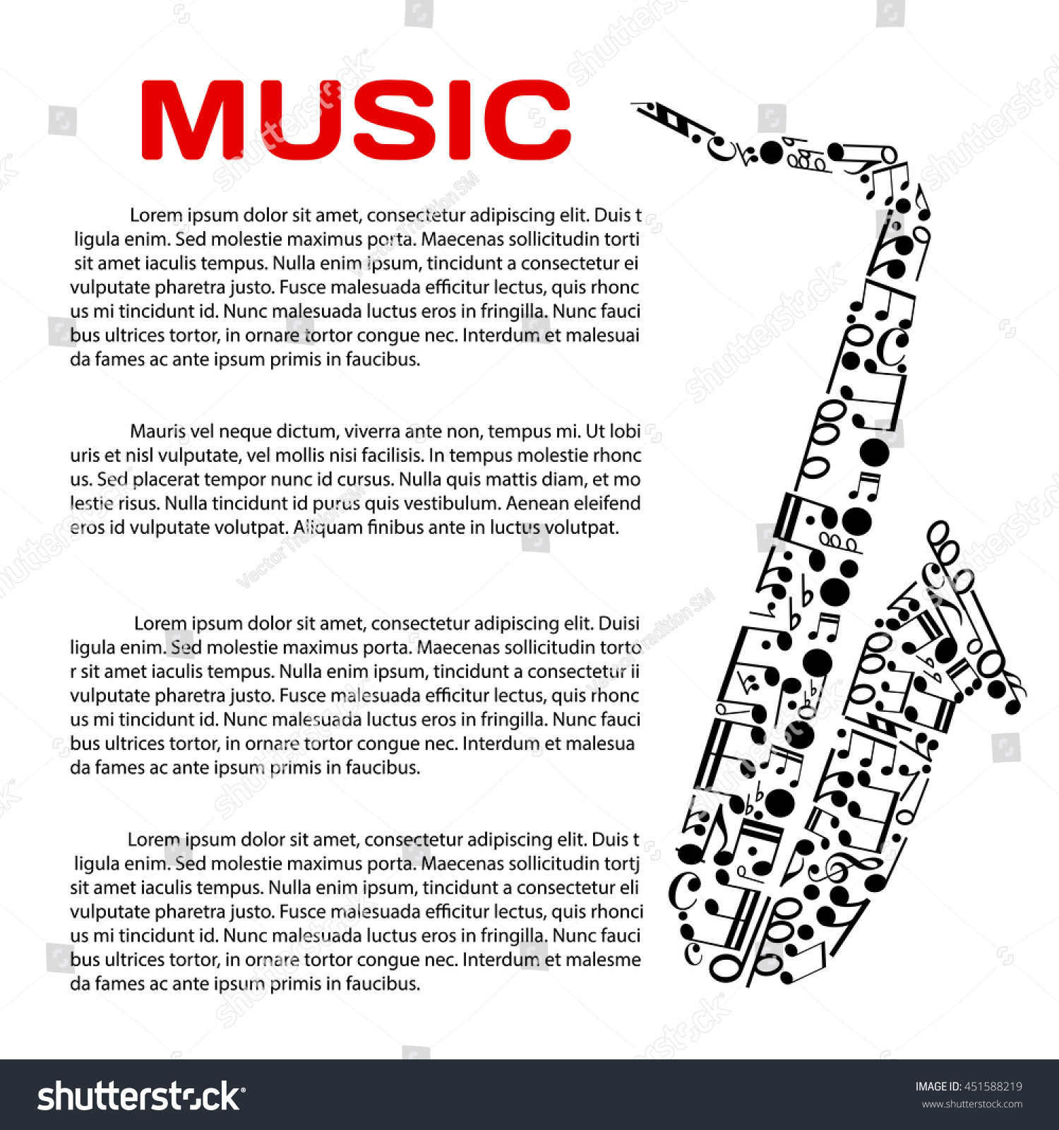 Music Event Poster Template Jazz Festival Stock Vector Royalty Free