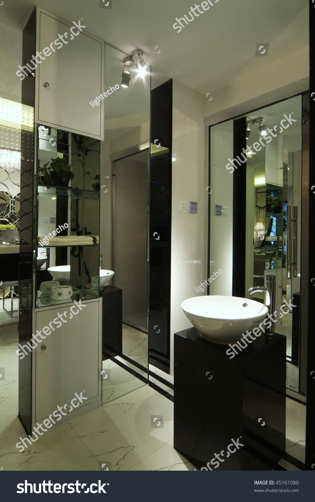 Decorated washroom modern style stock photo 45161080 for Washroom style