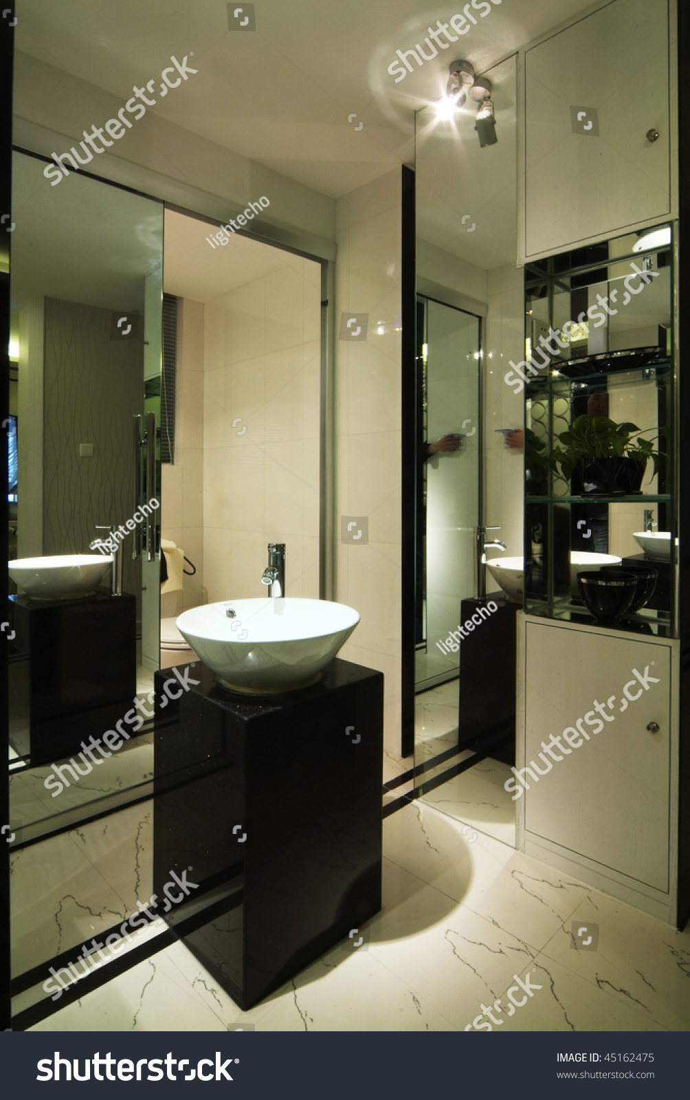 A washroom in modern style stock photo 45162475 for Washroom style