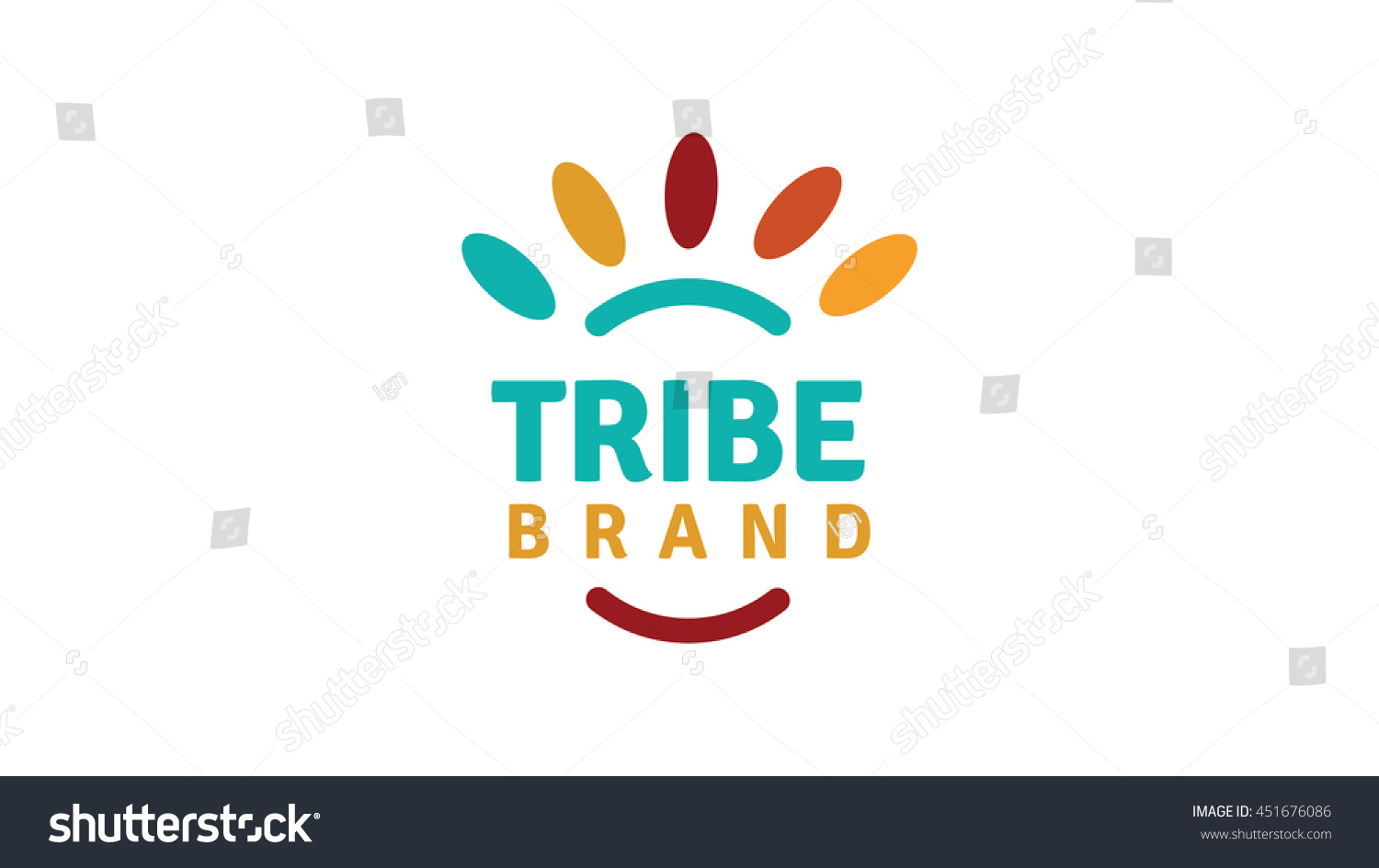 Tribe vector logo template