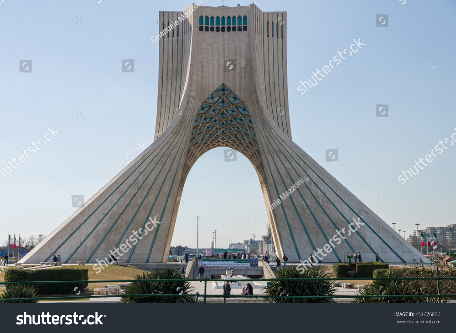 Teheran Iran February 2016 Azadi Tower Stock Photo 451676836 ...