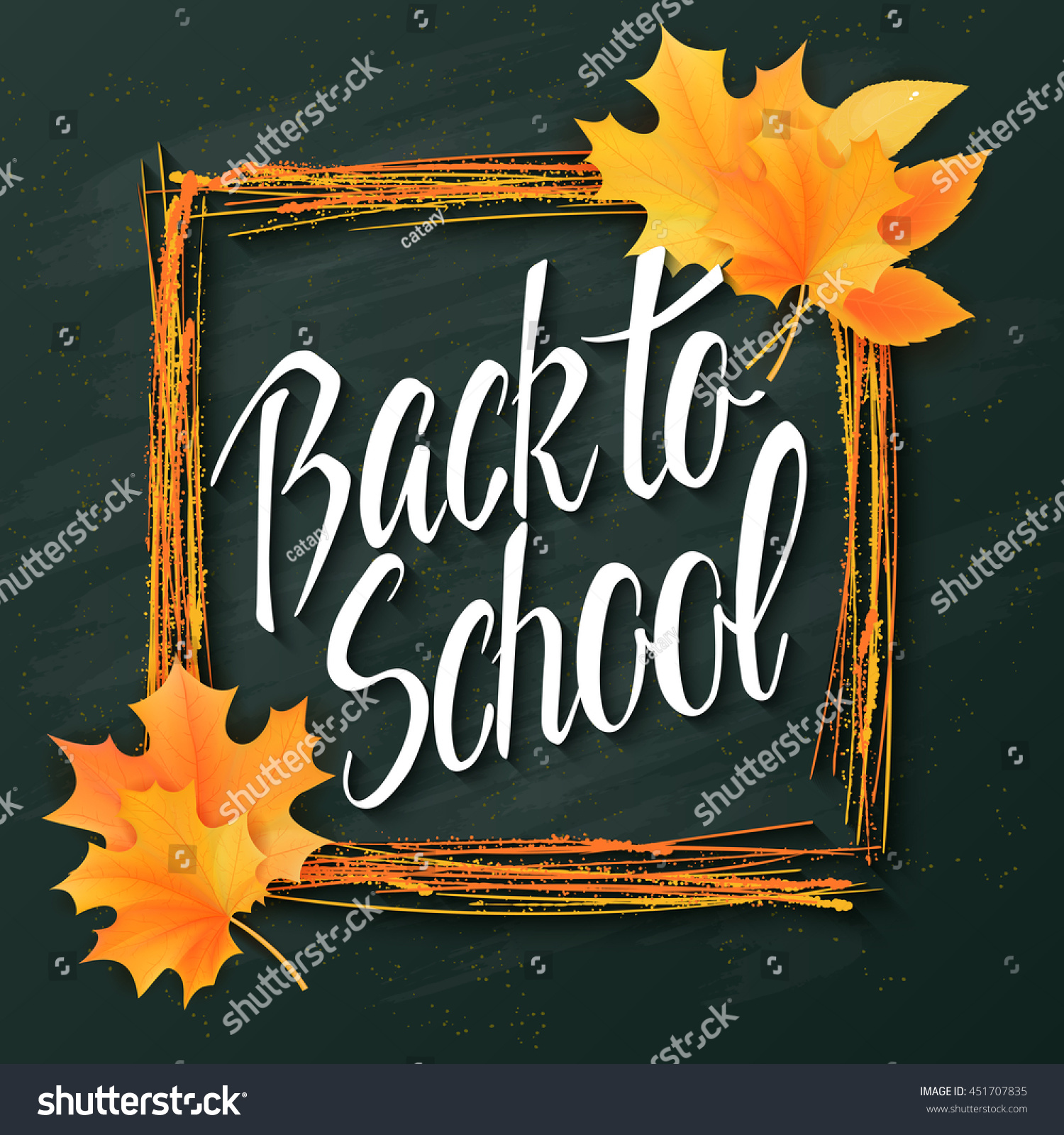 Vector Hand Drawn Back School Lettering Stock Vector Royalty Free