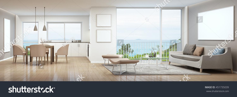 Dining Living Room Kitchen Luxury House Stock Illustration 451735039 ...