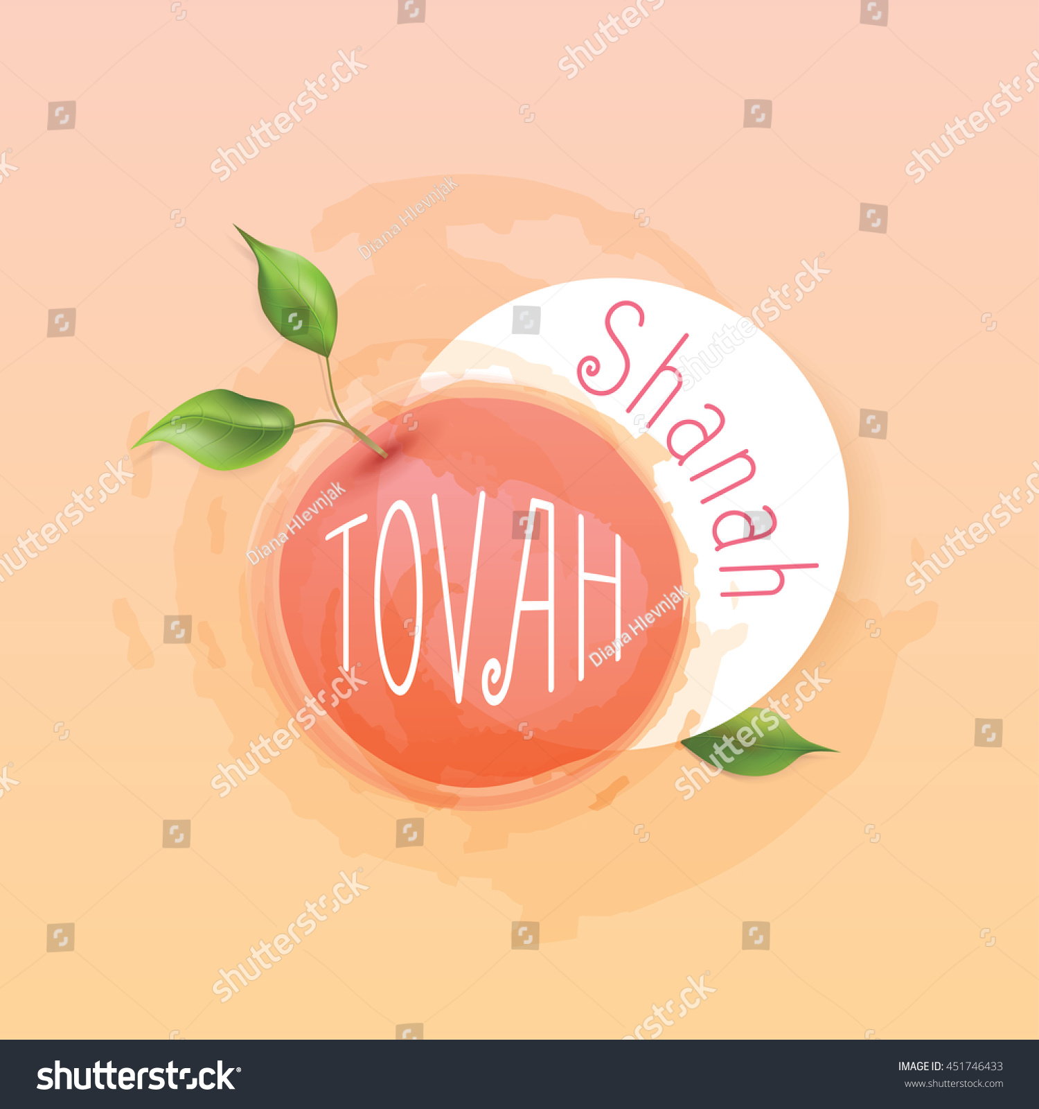 Rosh hashanah jewish new year card stock vector 451746433 rosh hashanah jewish new year card template design with shanah tovah greetings and apple surrounded by kristyandbryce Choice Image