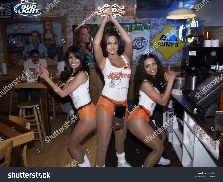 Hooters Girls Posing Charlies Angels Stock Photo 451819 - Shutterstock-7283