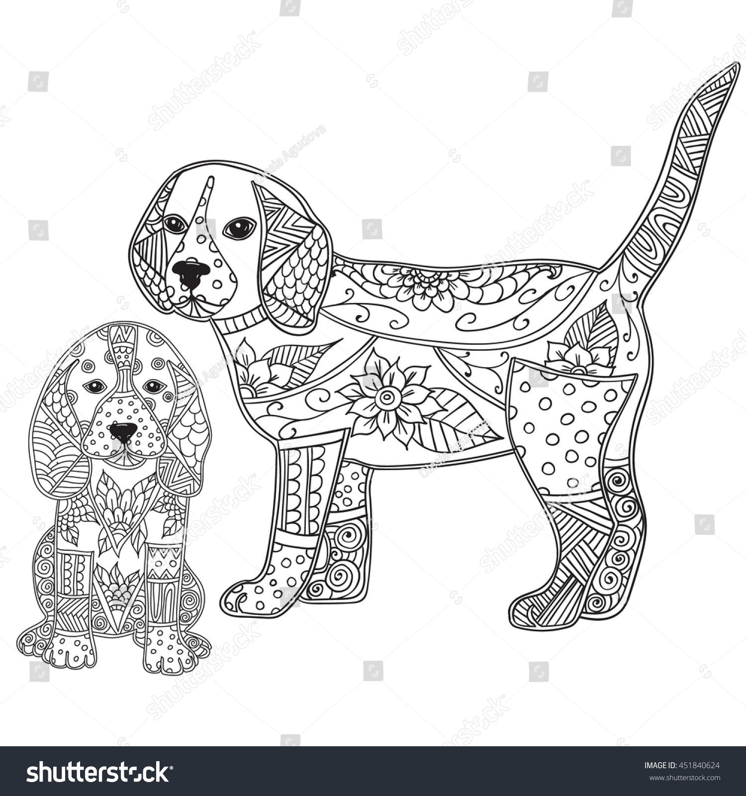 Posters Of Dogs Coloring For AdultsOfPrintable Coloring Pages