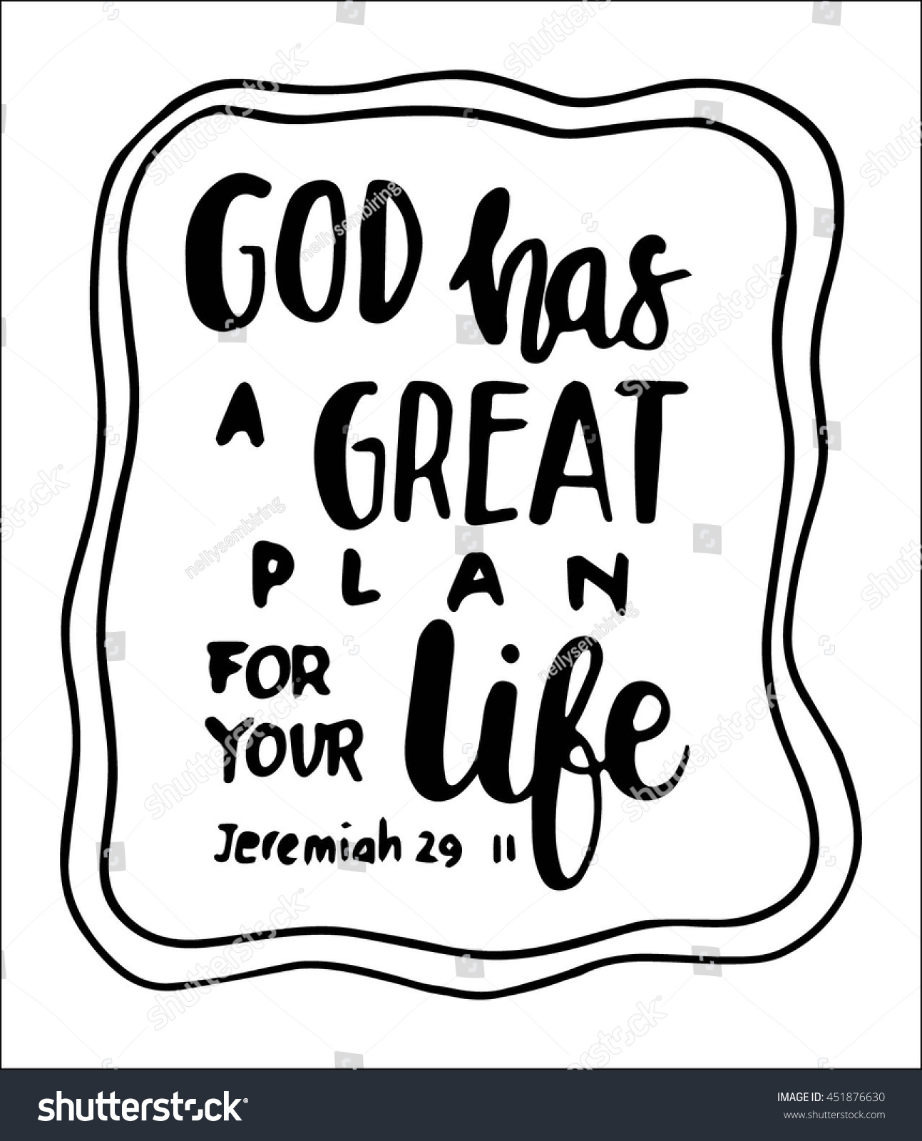 God Has Great Plan Your Life Stock Vector Royalty Free 451876630