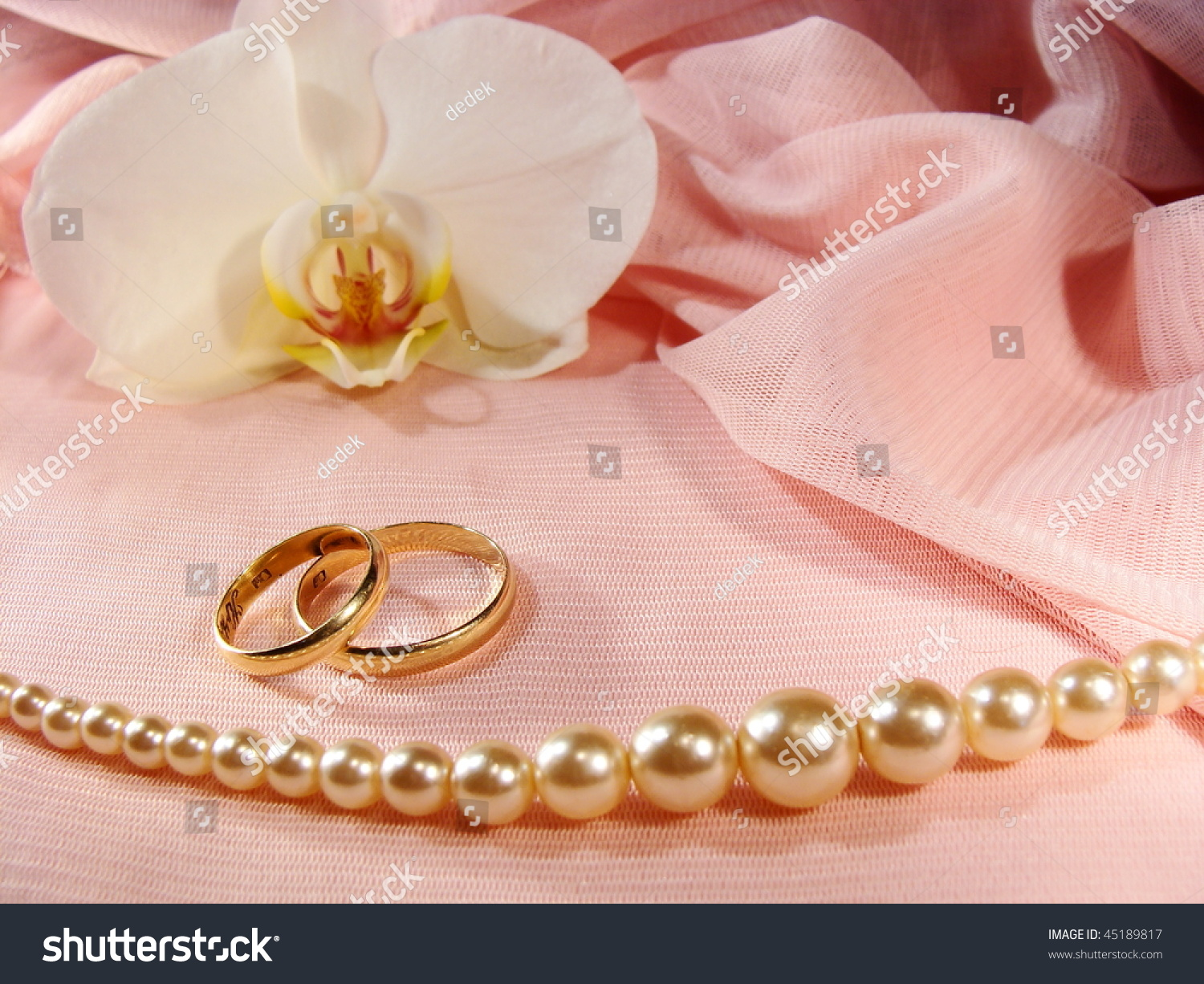 Love You Gold Wedding Rings On Stock Photo (Edit Now) 45189817 ...