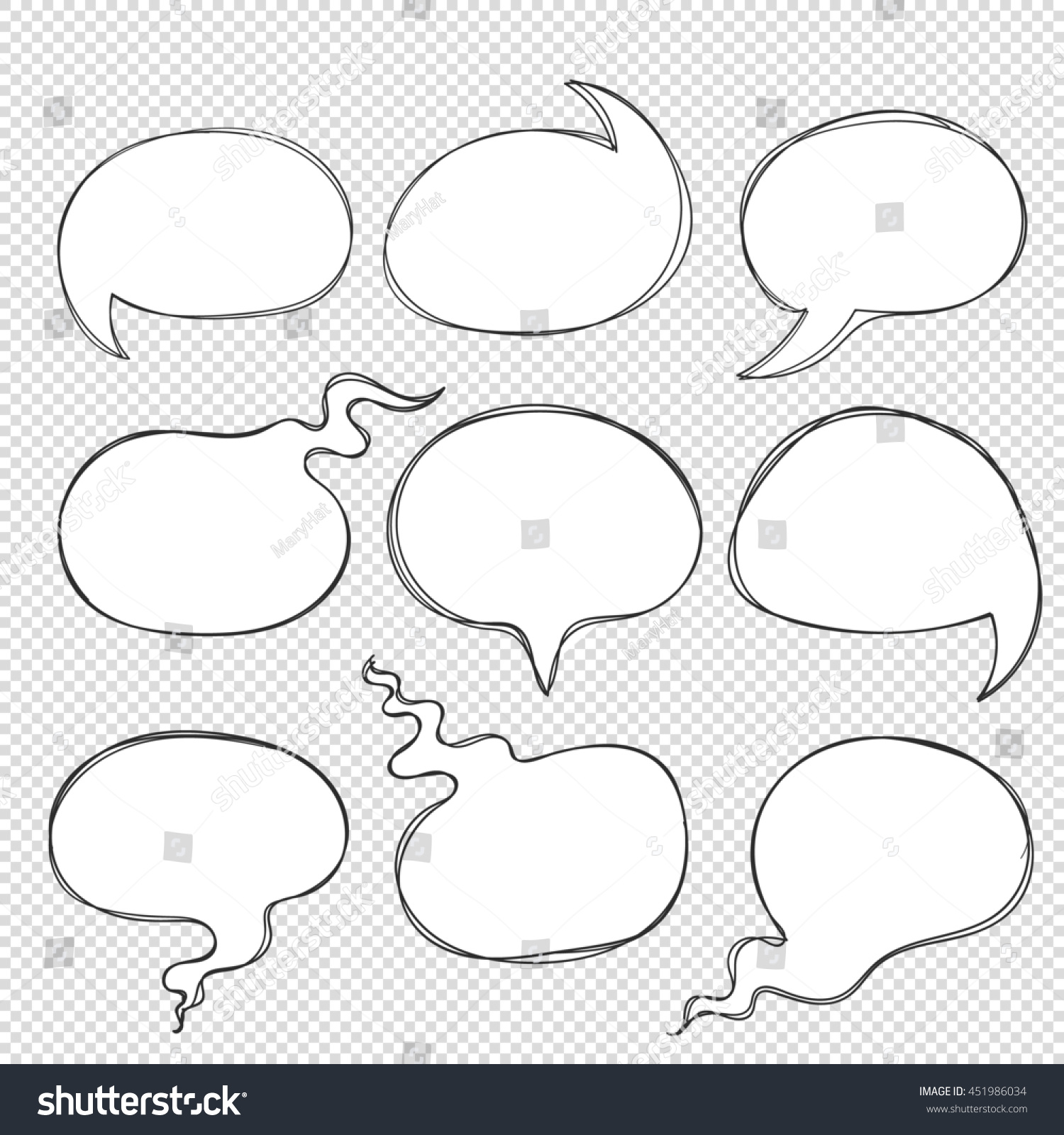 hand drawn doodle frame bubbles lines stock illustration 451986034 hand drawn doodle frame bubbles from lines to think speech dialogue phrases