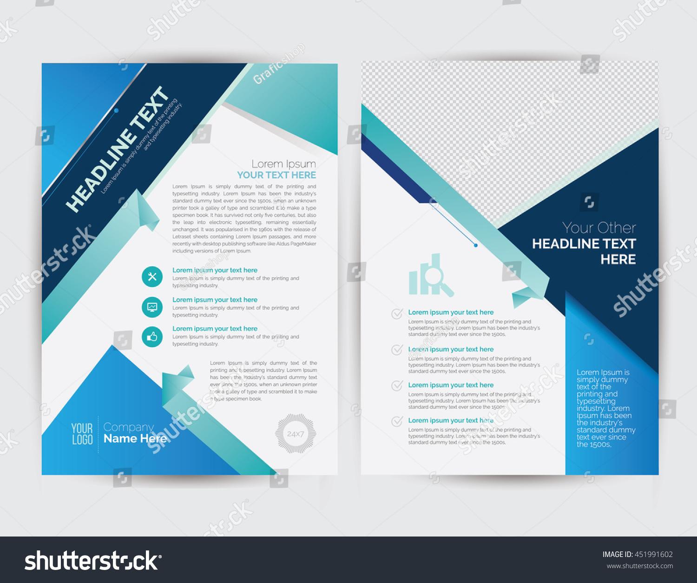 royalty business brochure flyer layout template  business brochure flyer layout template a4 size corporate design 451991602