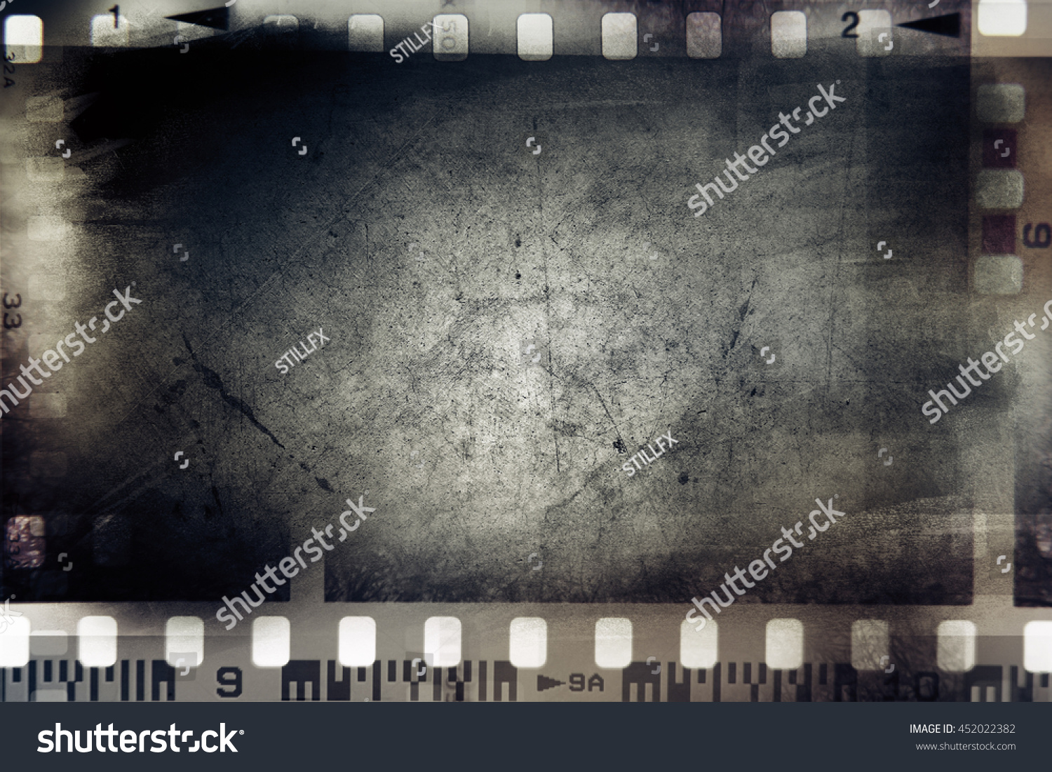 Film Negative Frames On Grunge Background Stock Photo ...