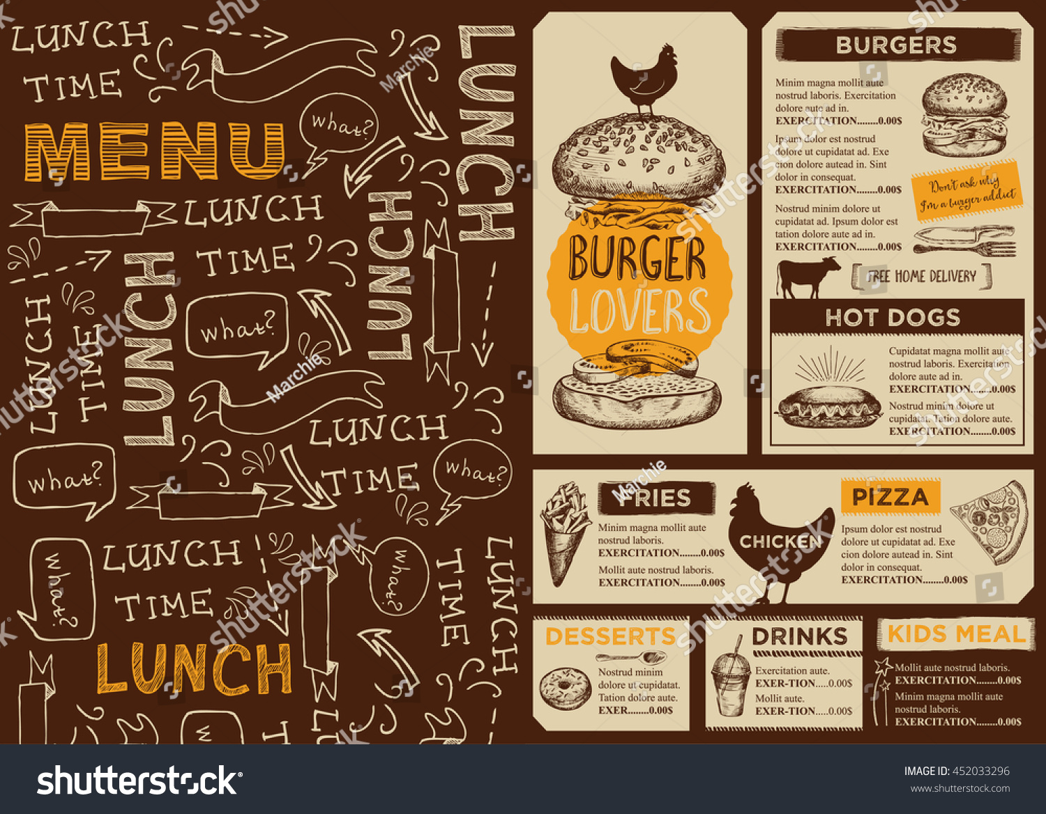 Diner placemats