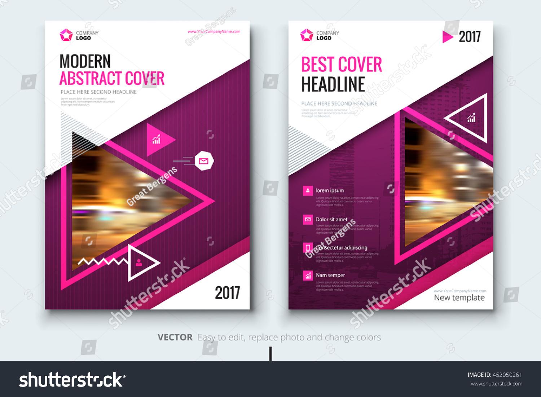 Pink Brochure Design Corporate Business Template Stock Vector